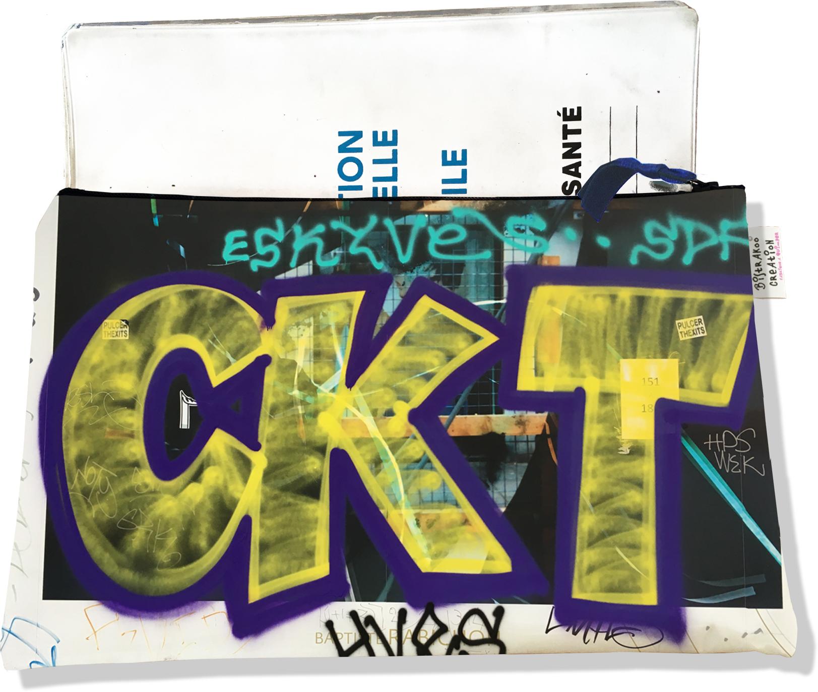 Protège carnet de santé zippé pour femme motif Street art PC6021