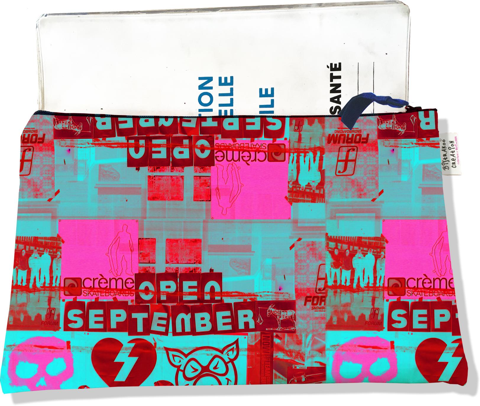 Protège carnet de santé zippé pour femme motif Street art PCZ6022