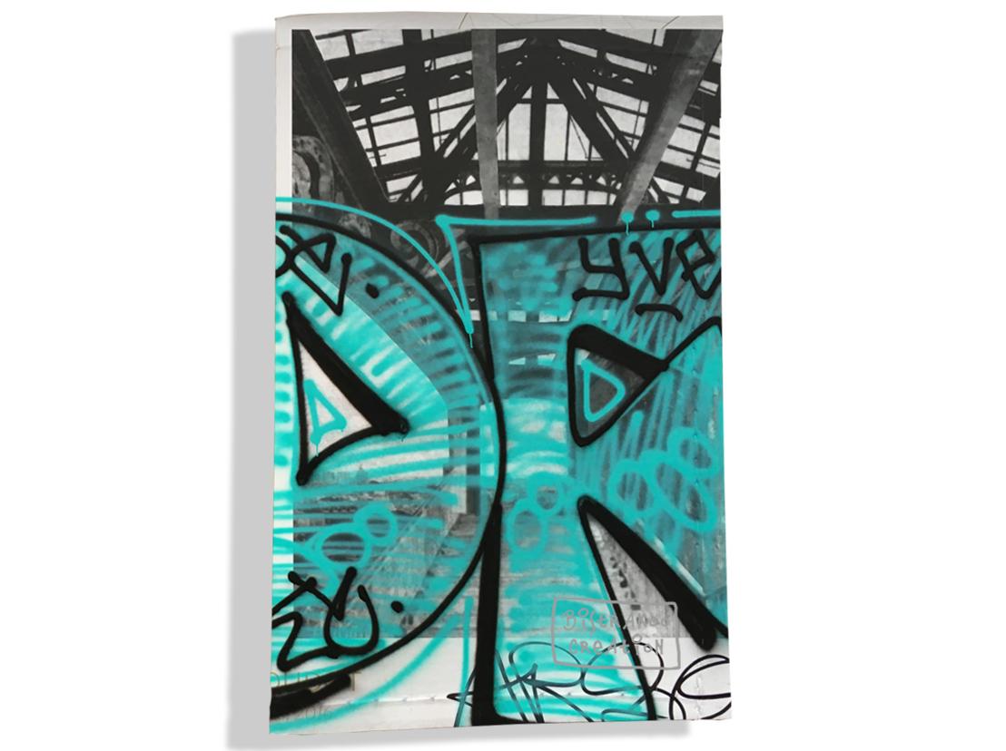 Porte carte grise pour femme motif Street art PCG6020