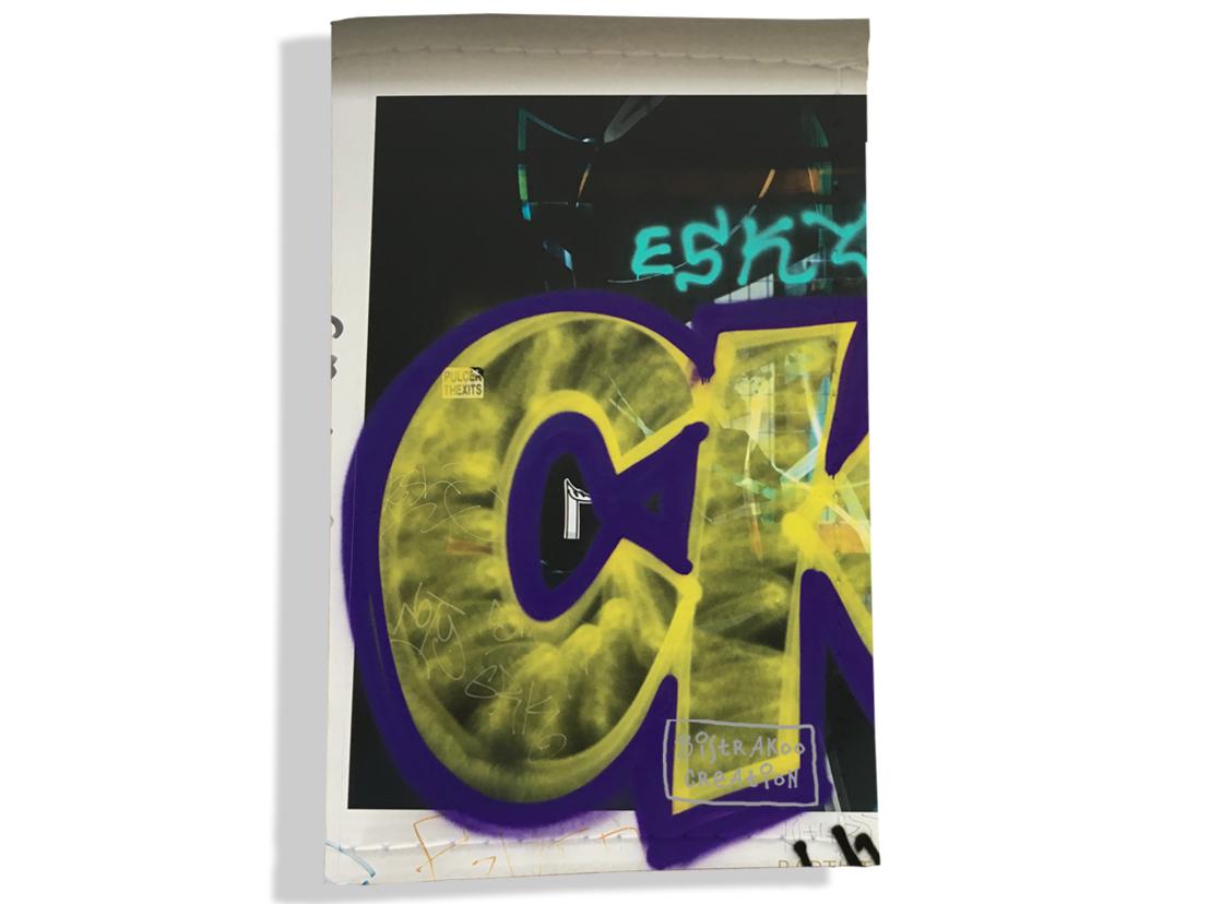 Porte carte grise pour femme motif Street art PCG6021