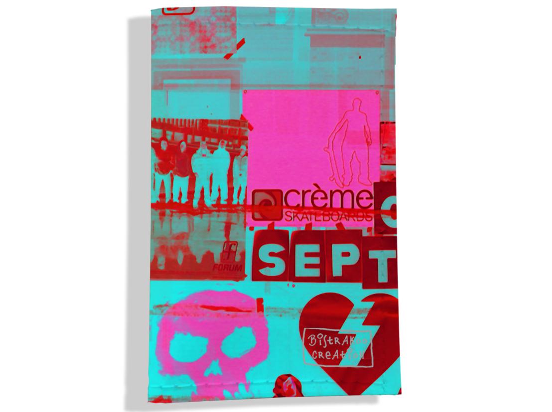 Porte carte grise pour femme motif Street art PCG6022