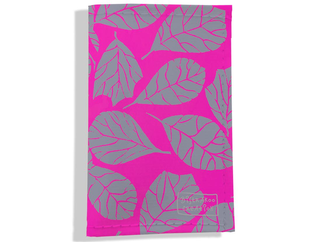 Porte carte grise pour femme motif Feuillage PCG6023