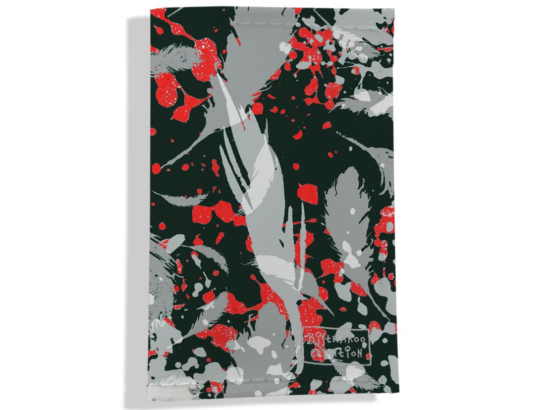 Porte carte grise pour femme motif Plumes grises PCG6025
