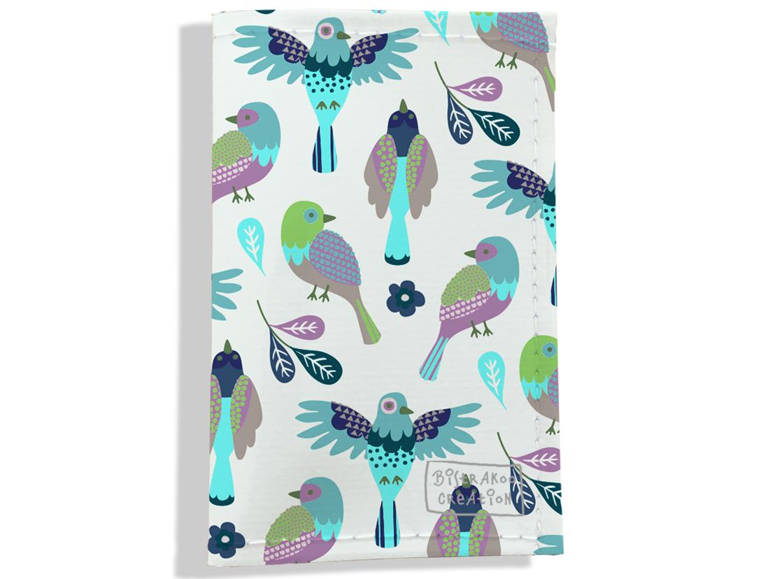 Porte carte grise pour femme motif Oiseaux PCG6028