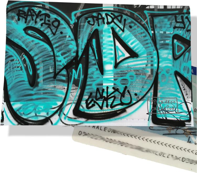 Porte carte d\'identité pour femme motif Street art PCI6020