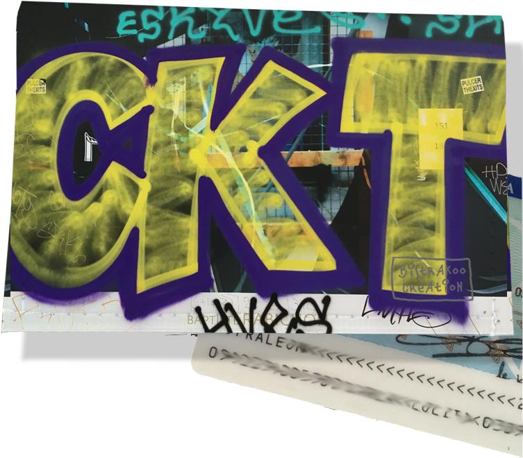 Porte carte d\'identité pour femme motif Street art PCI6021