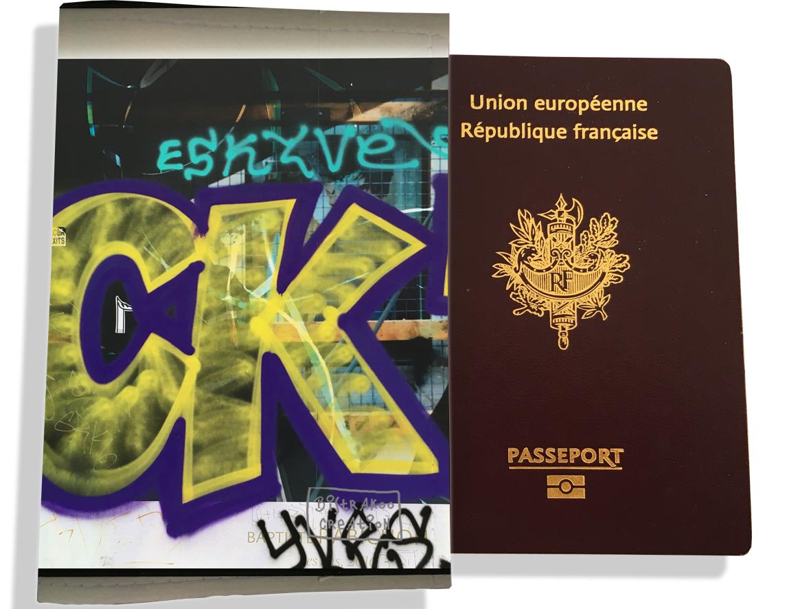 Protège passeport pour femme motif Street art PP6021
