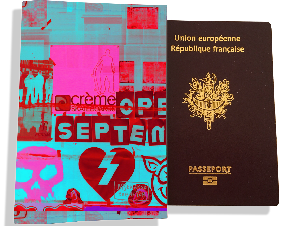 Protège passeport pour femme motif Street art PP6022