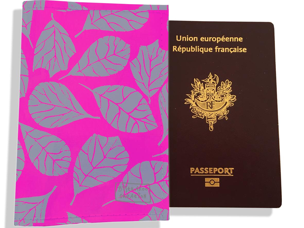 Protège passeport pour femme motif Feuillage PP6023