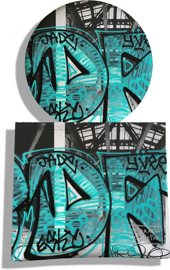 Miroir de Poche avec étui, Miroir de Maquillage pour femme motif Street art MP6020