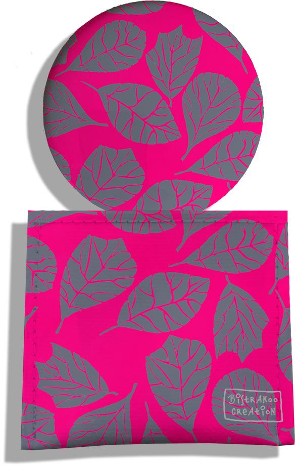 Miroir de Poche avec étui, Miroir de Maquillage pour femme motif Feuillage MP6024