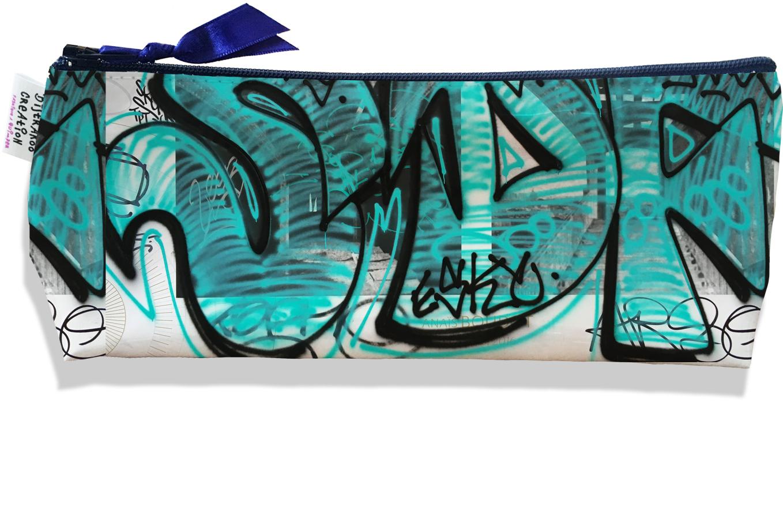 Trousse scolaire, Trousse d\'école, Trousse à Crayons ou Maquillage motif Street art TS6020