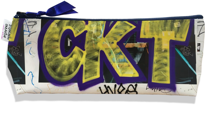 Trousse scolaire, Trousse d\'école, Trousse à Crayons ou Maquillage motif Street art TS6021