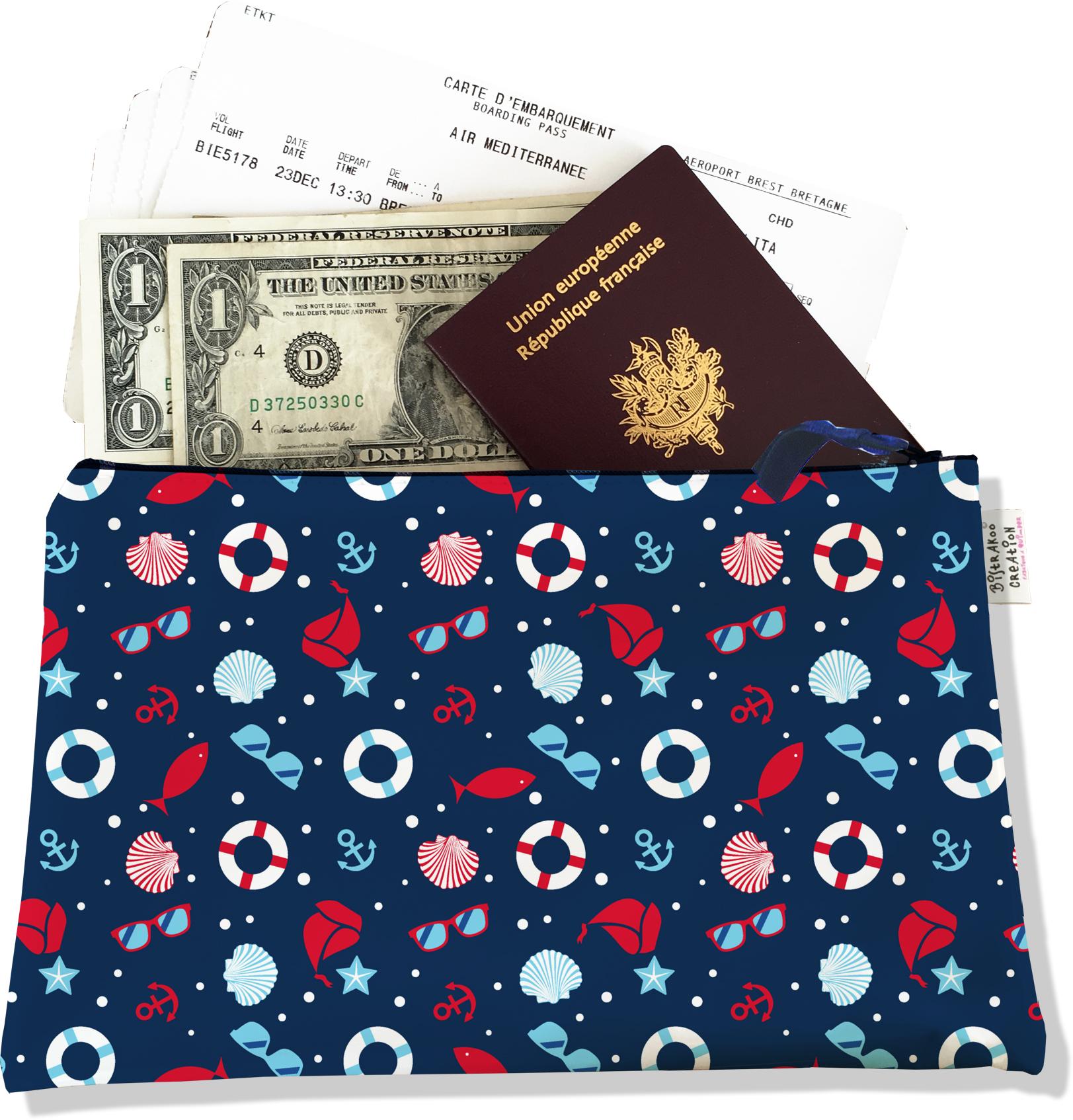 Pochette voyage, porte documents PV5088