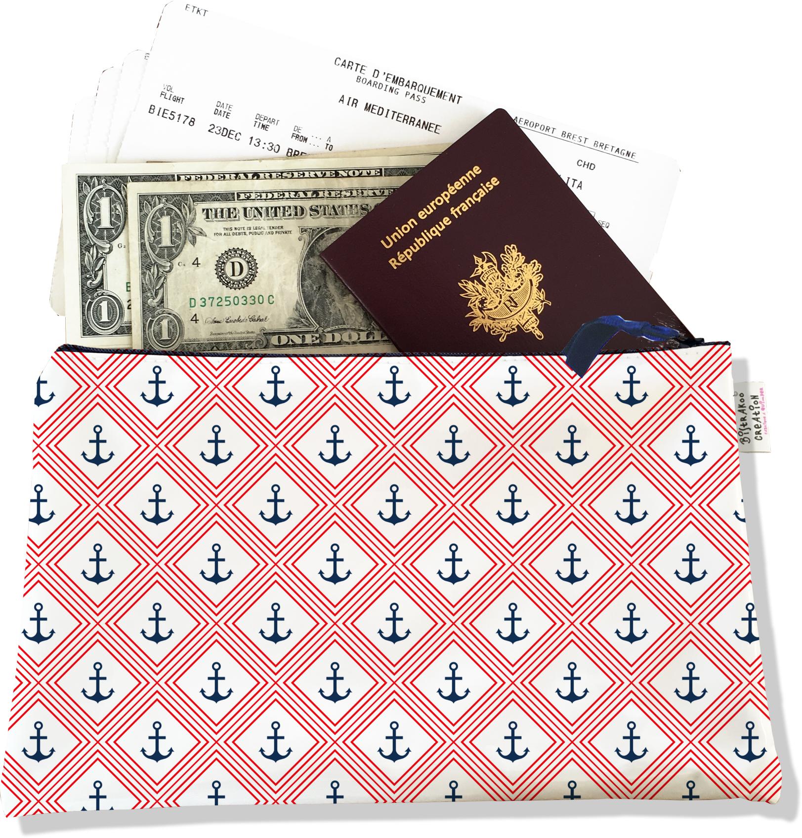 Pochette voyage, porte documents PV5092