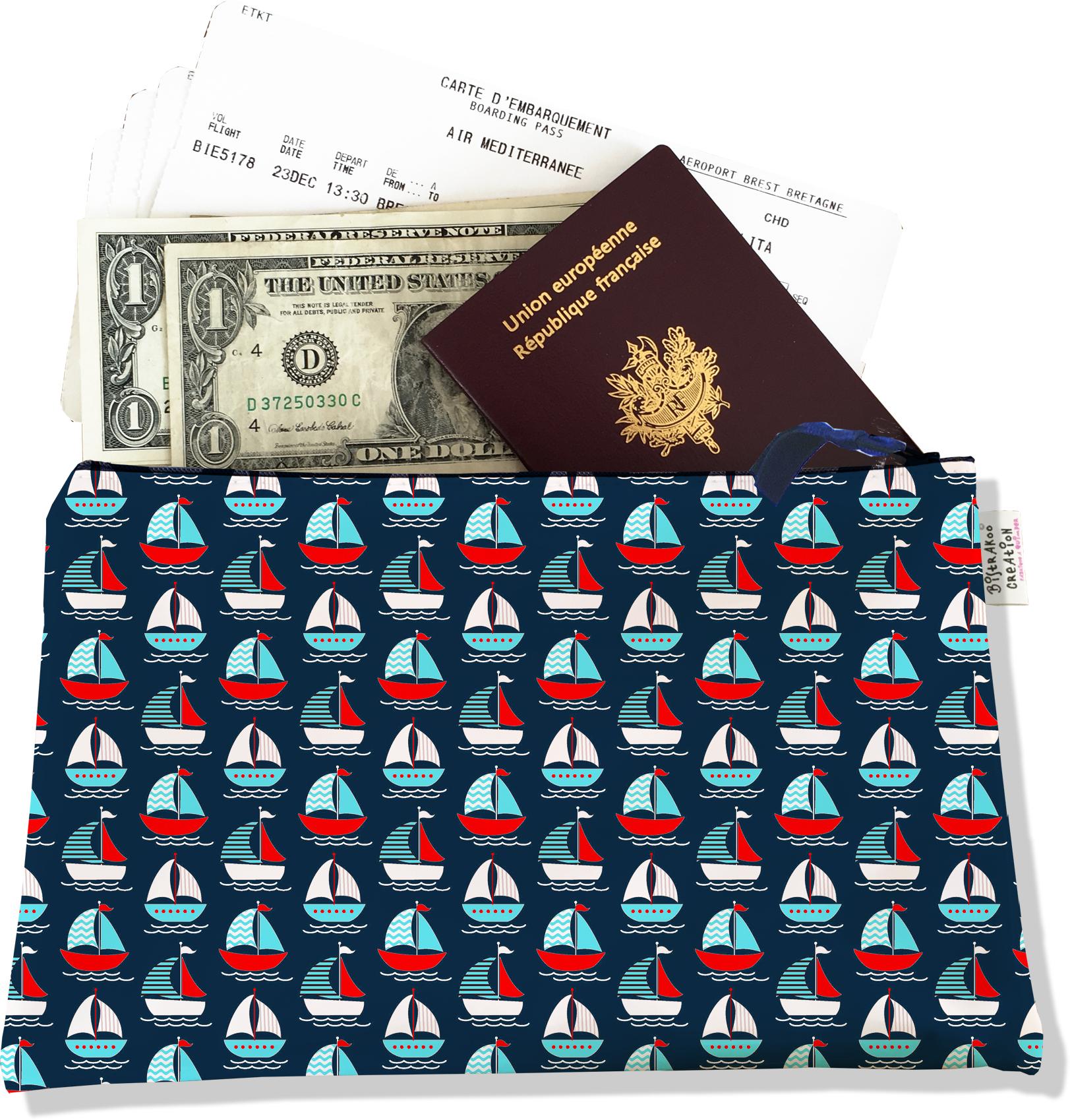 Pochette voyage, porte documents PV5111