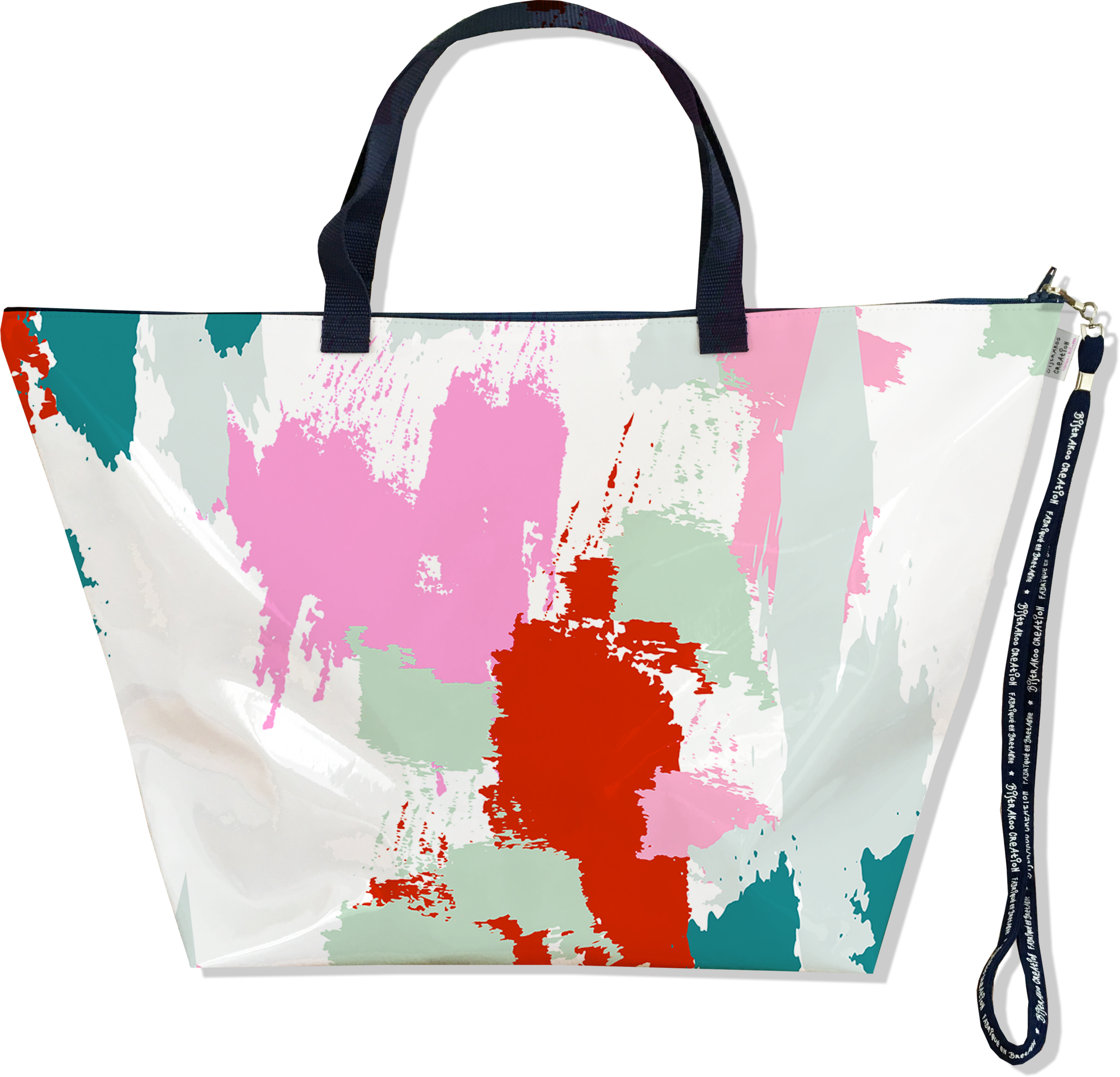 Grand Sac de voyage, sac week end pour femme motif Taches Peinture multicolores SW6001-2019
