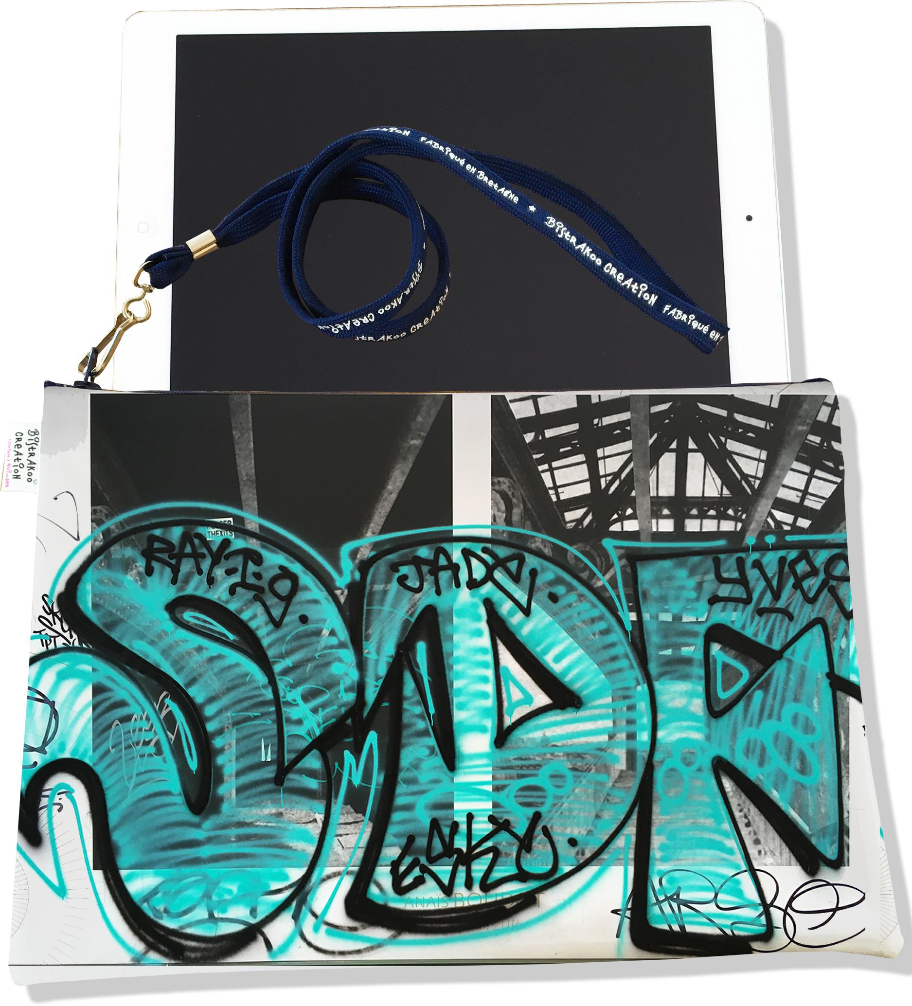 Housse pour tablette pour femme motif Street art HT6020