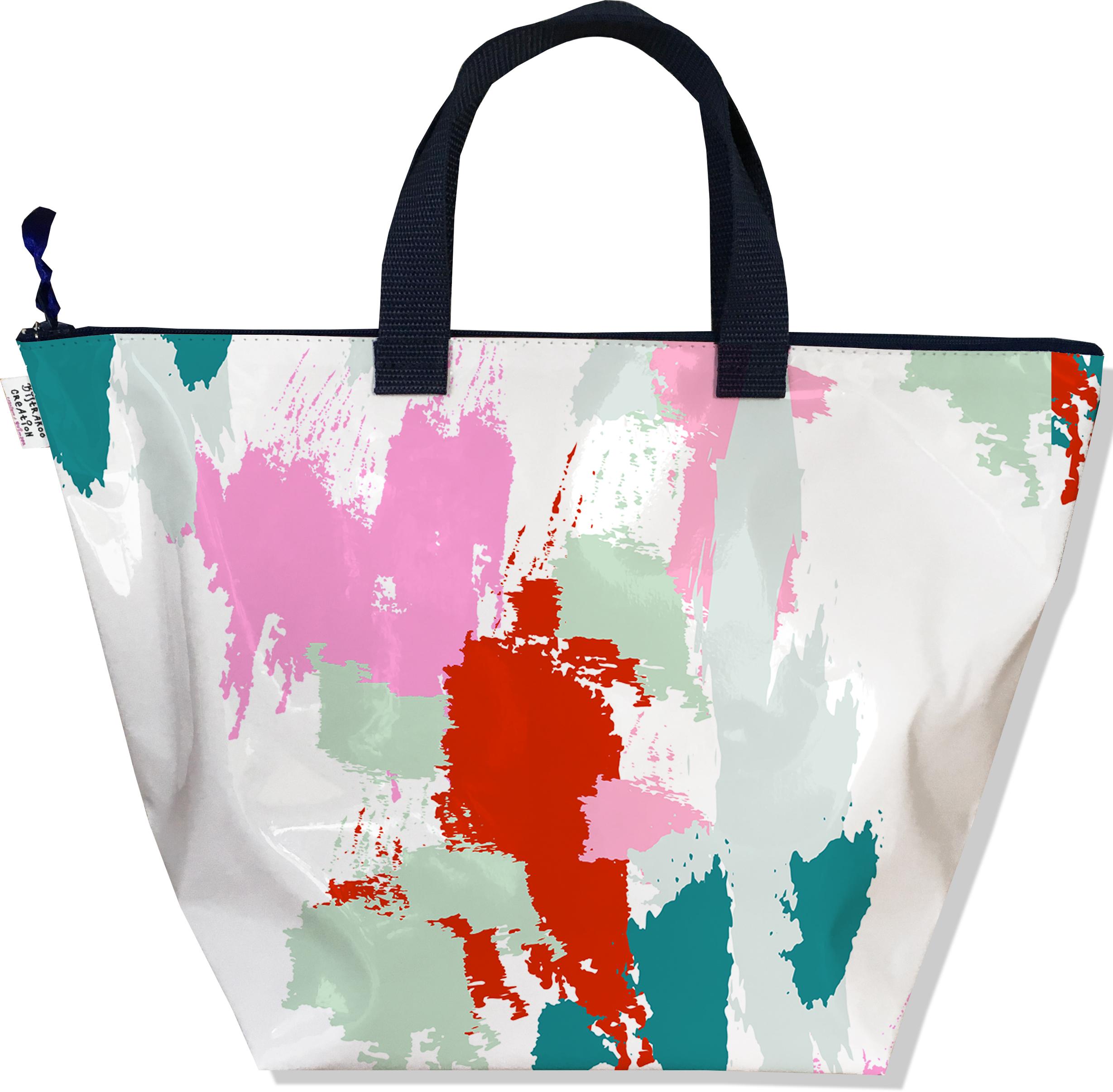 Sac à main zippé pour femme Taches Peinture multicolores SM6001