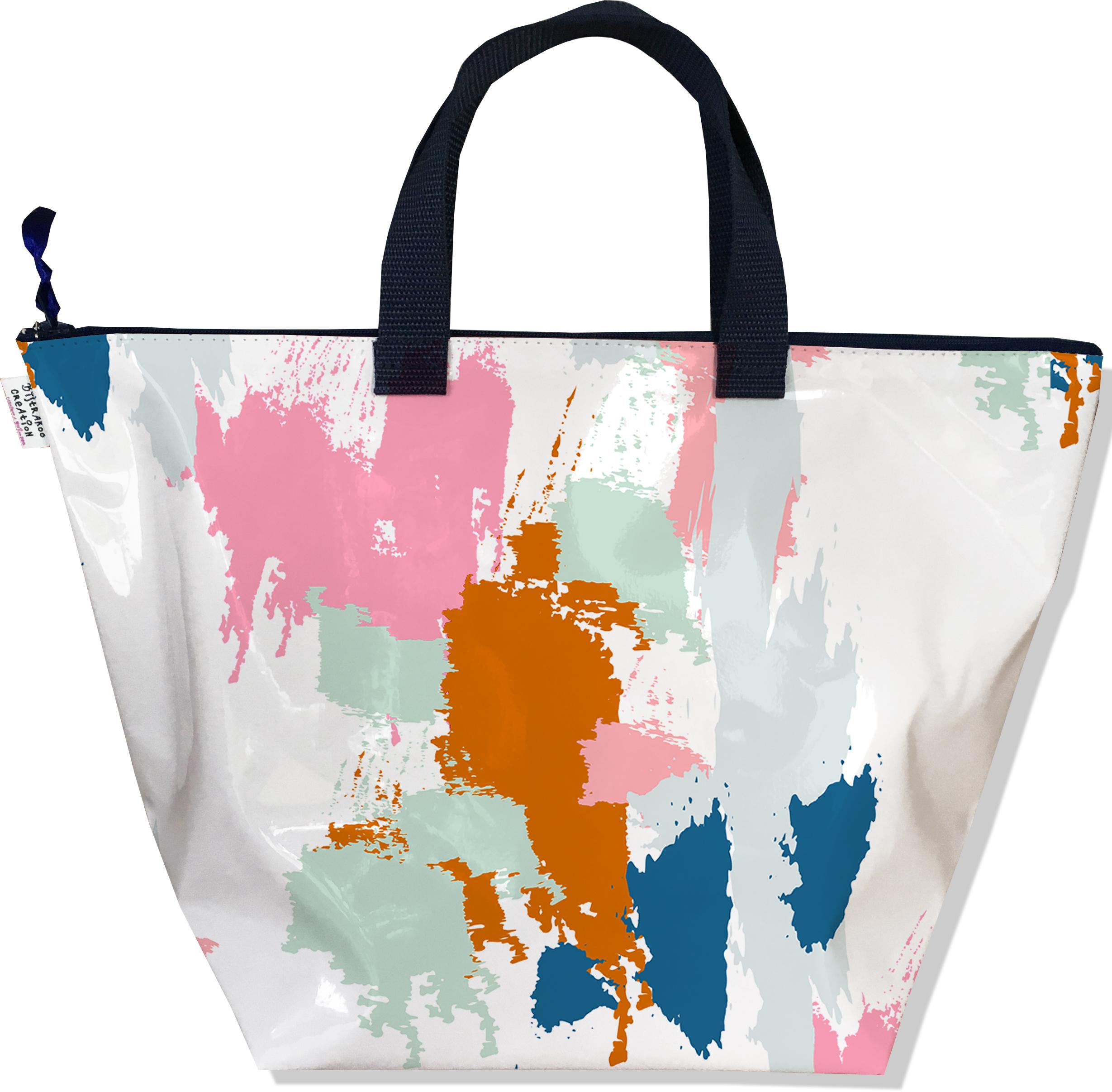 Sac à main zippé pour femme Taches Peinture multicolores SM6013