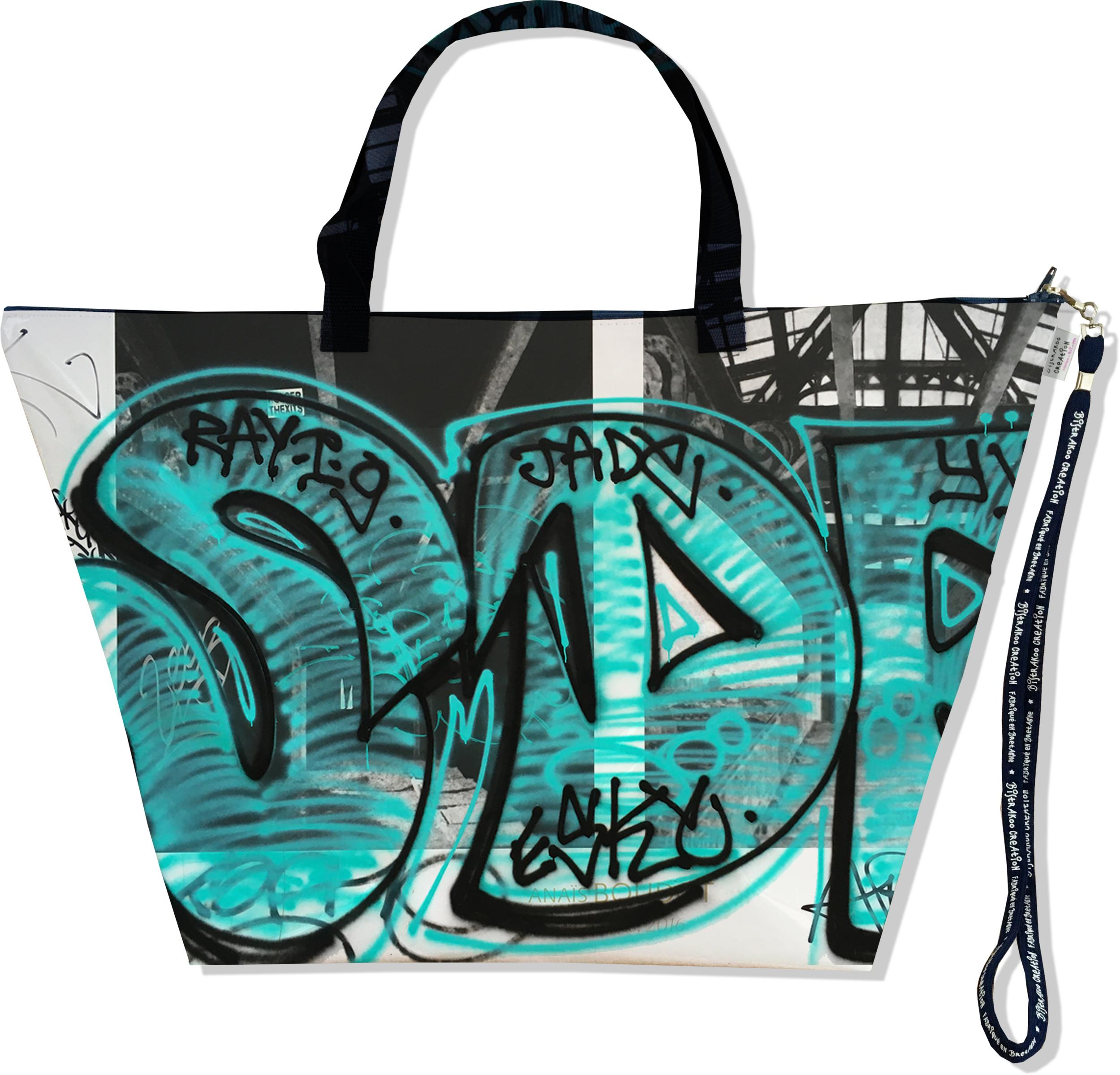 Grand Sac de voyage, sac week end pour femme motif Street art SW6020