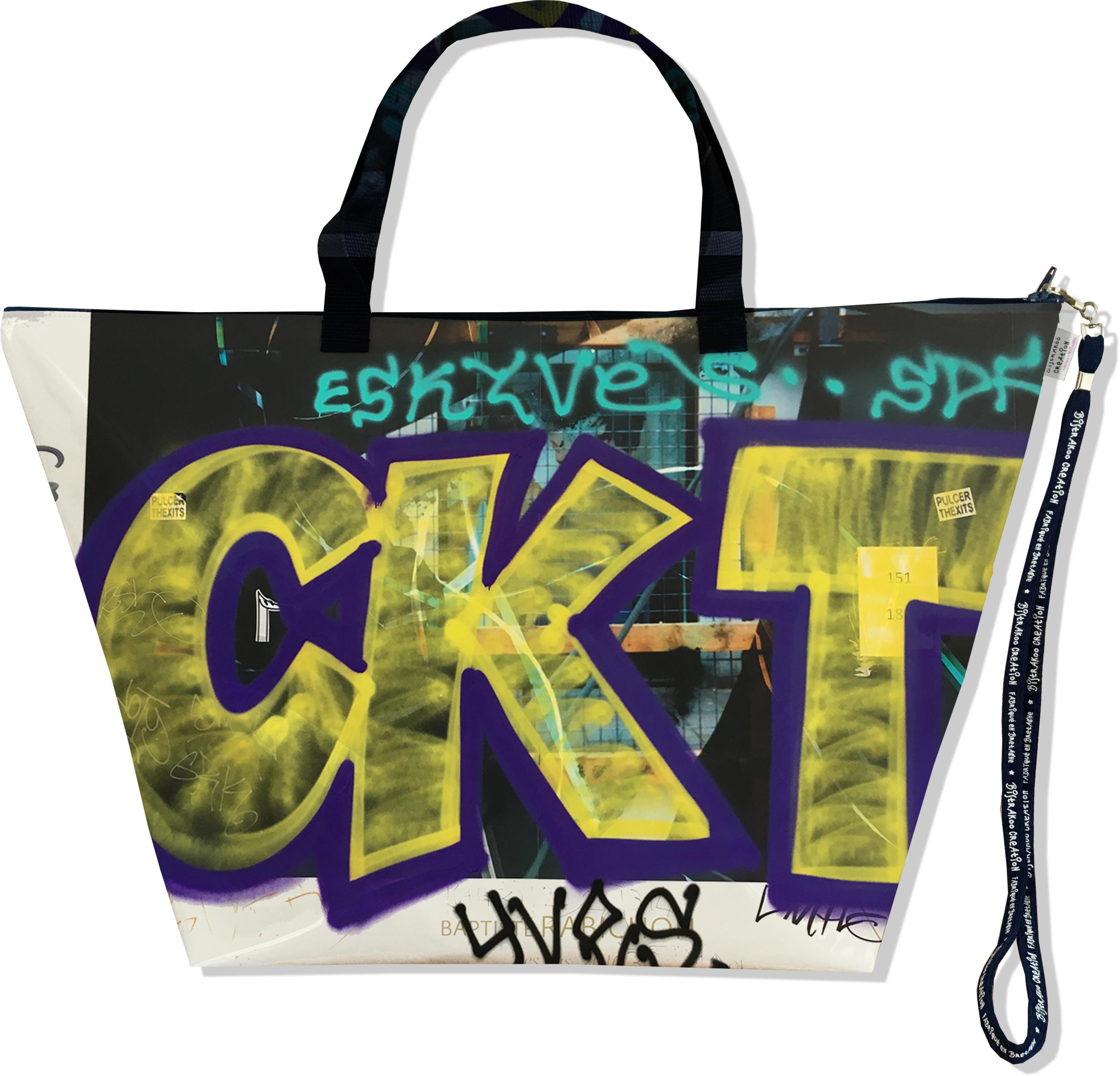 Grand Sac de voyage, sac week end pour femme motif Street art SW6021