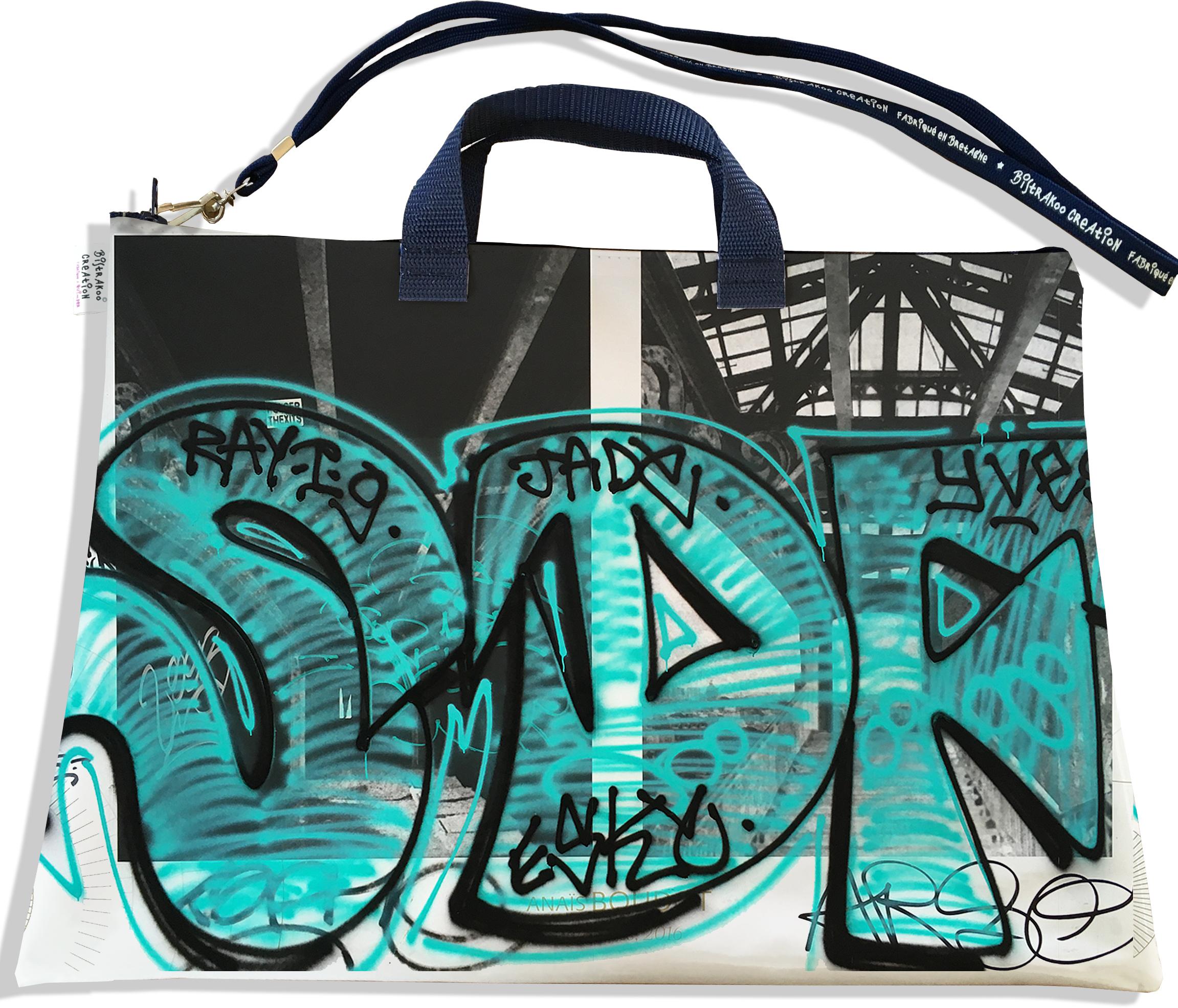 Sacoche ordinateur portable 11 & 13 pouces pour femme motif Street art SOP6020