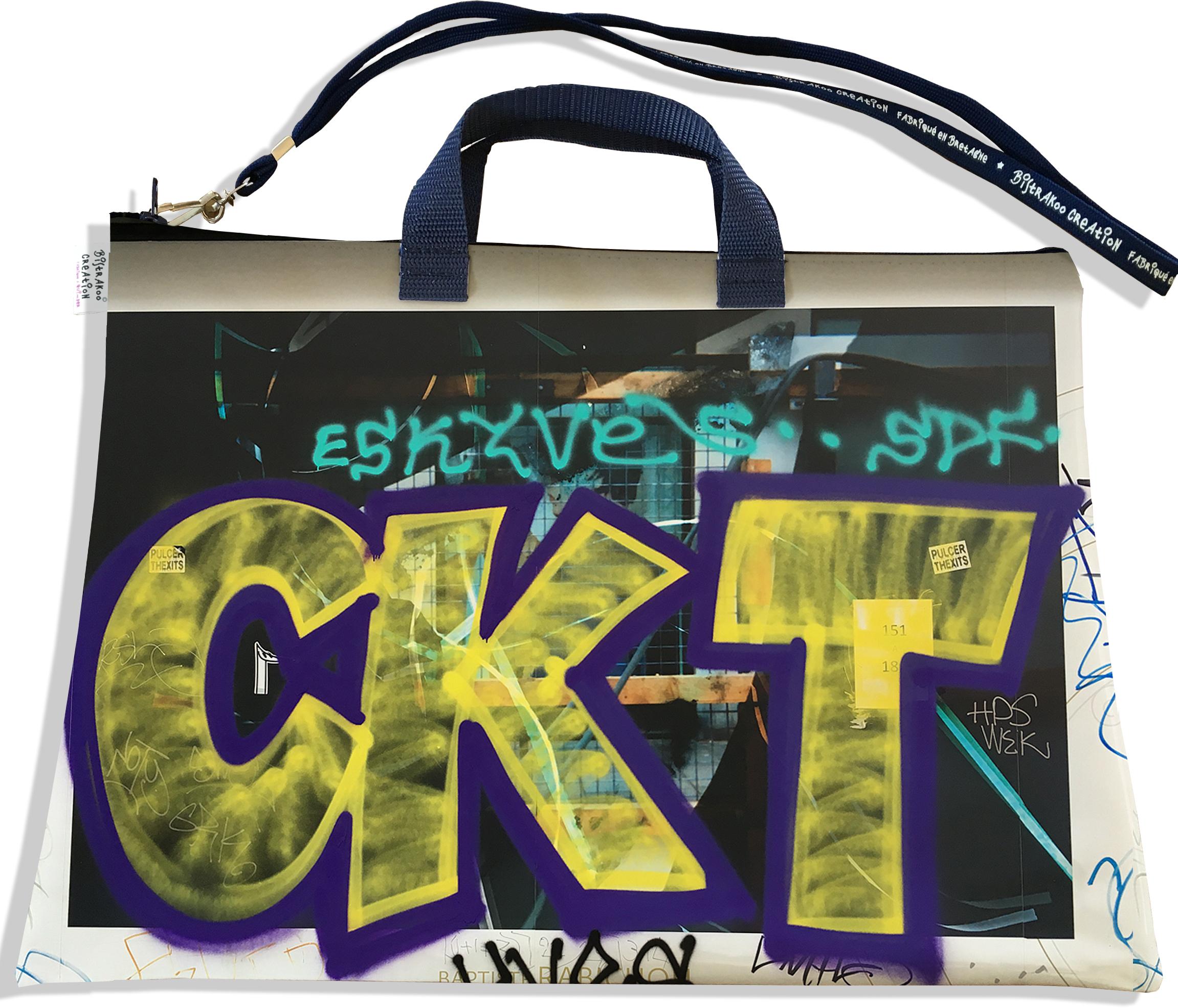 Sacoche ordinateur portable 11 & 13 pouces pour femme motif Street art SOP6021