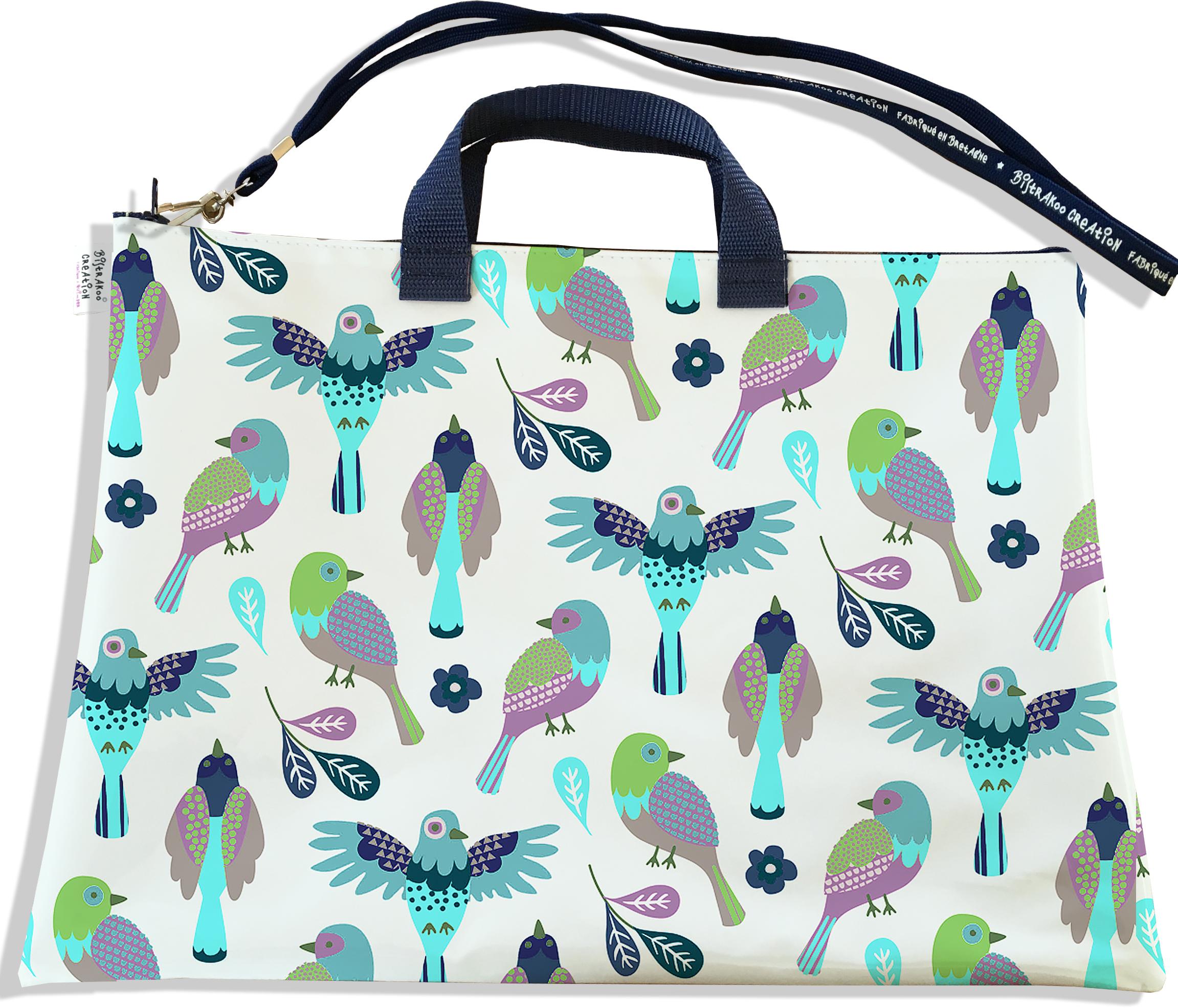 Sacoche ordinateur portable 11 & 13 pouces pour femme motif Oiseaux SOP6028