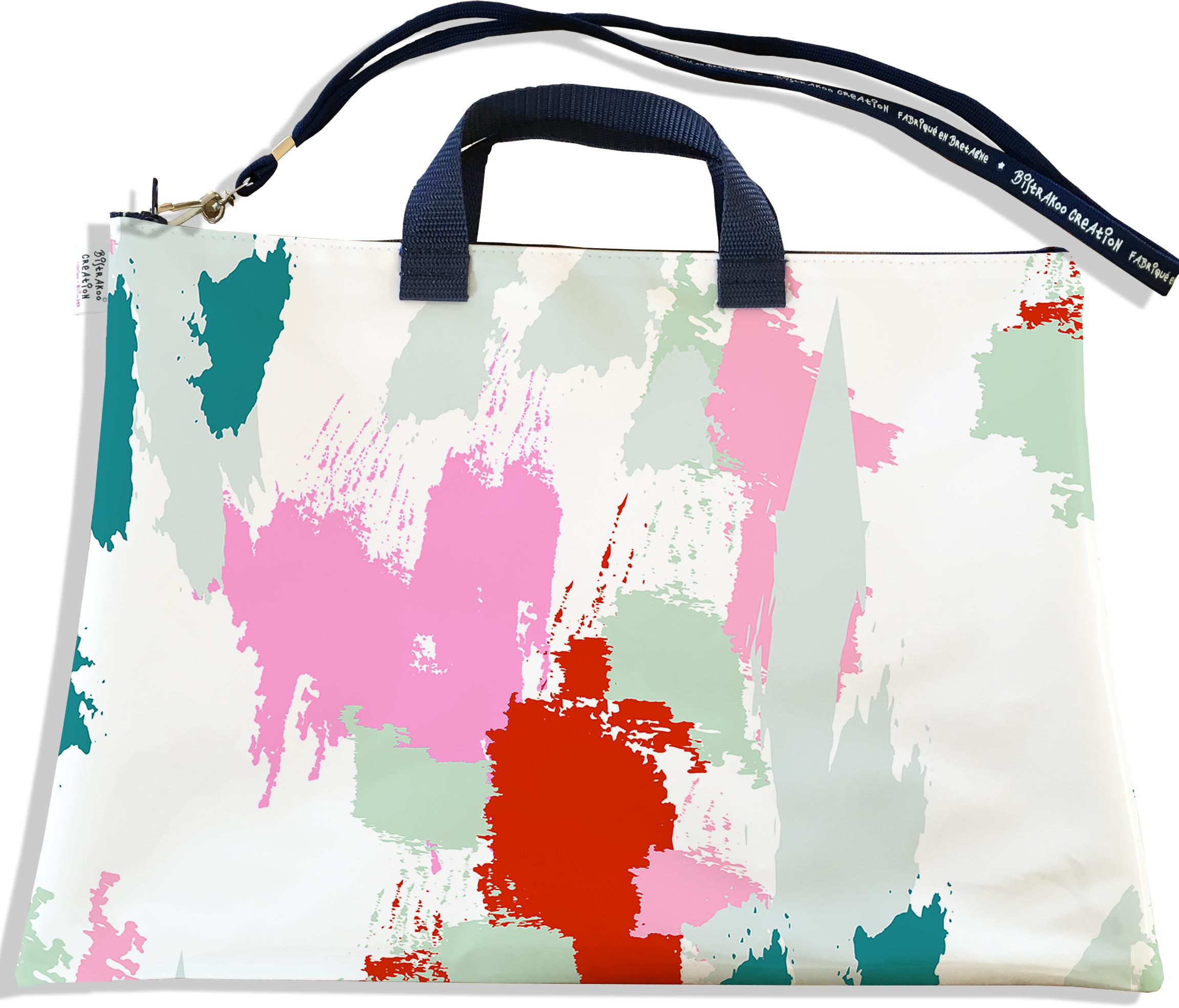 Sacoche ordinateur portable 11 & 13 pouces pour femme motif Taches Peinture multicolores SOP6001