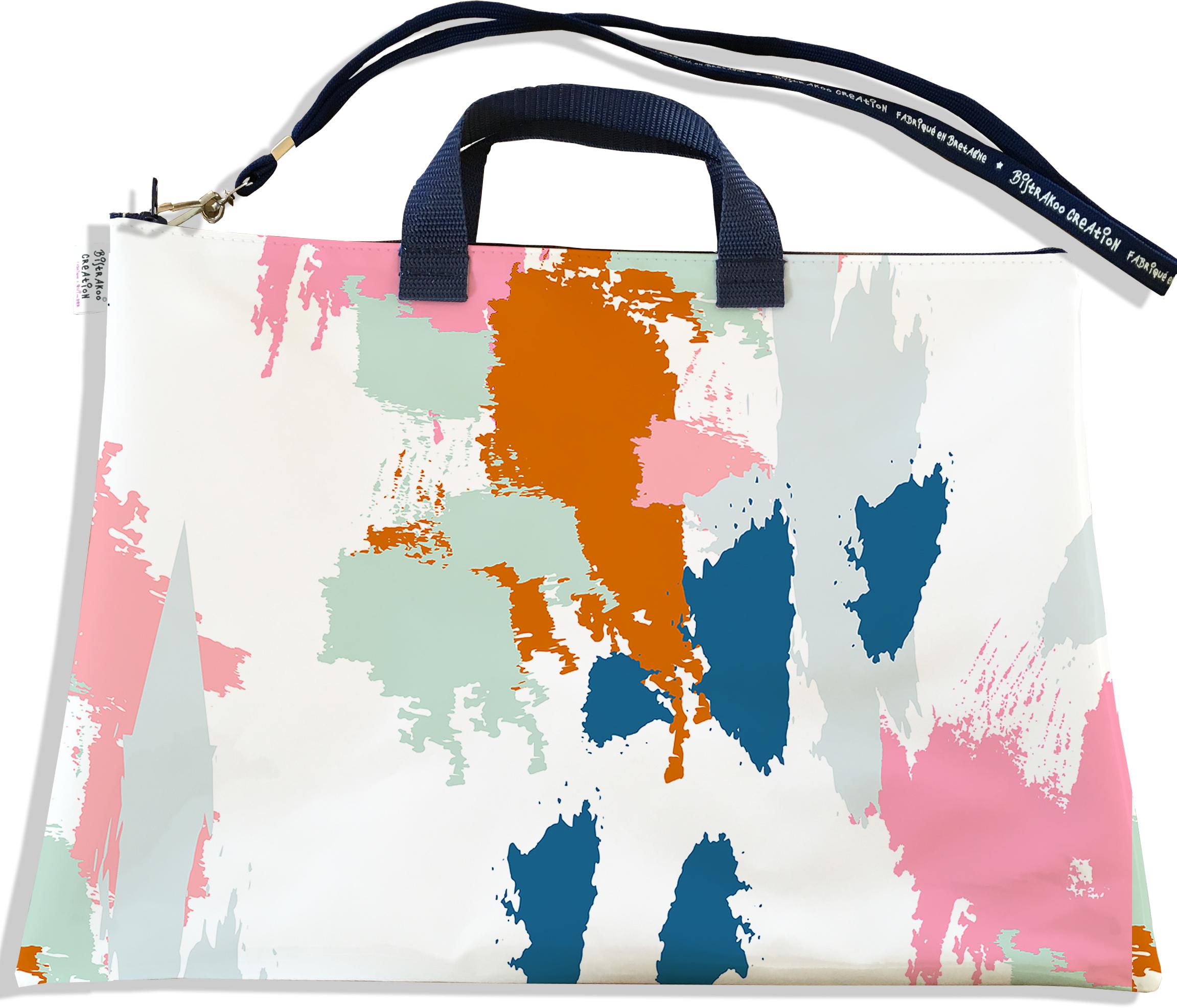 Sacoche ordinateur portable 11 & 13 pouces pour femme motif Taches Peinture multicolores SOP6013