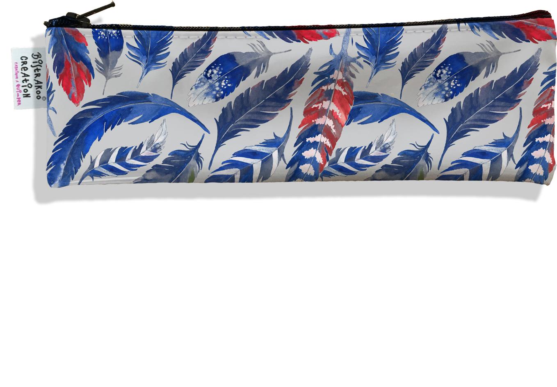 Trousse à brosse à dents pour femme Plumes bleues TBD6026