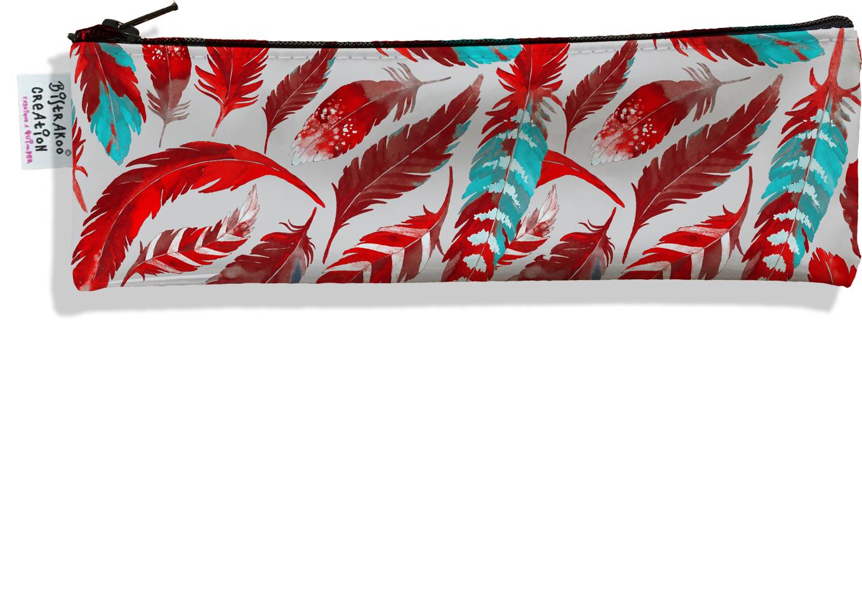 Trousse à brosse à dents pour femme Plumes rouges TBD6027
