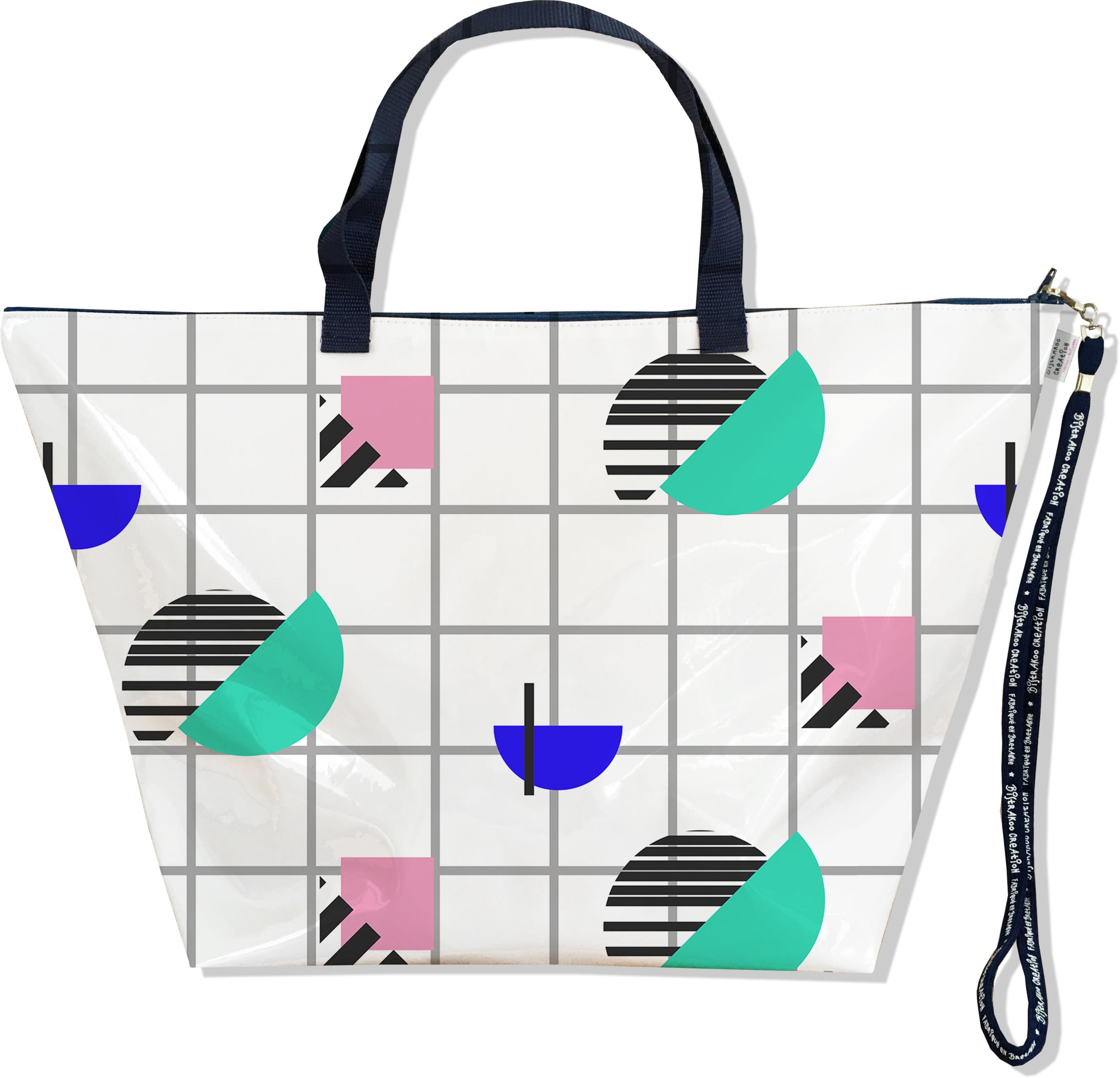 Grand Sac de voyage, sac week end pour femme motif Graphique SW6017-2019