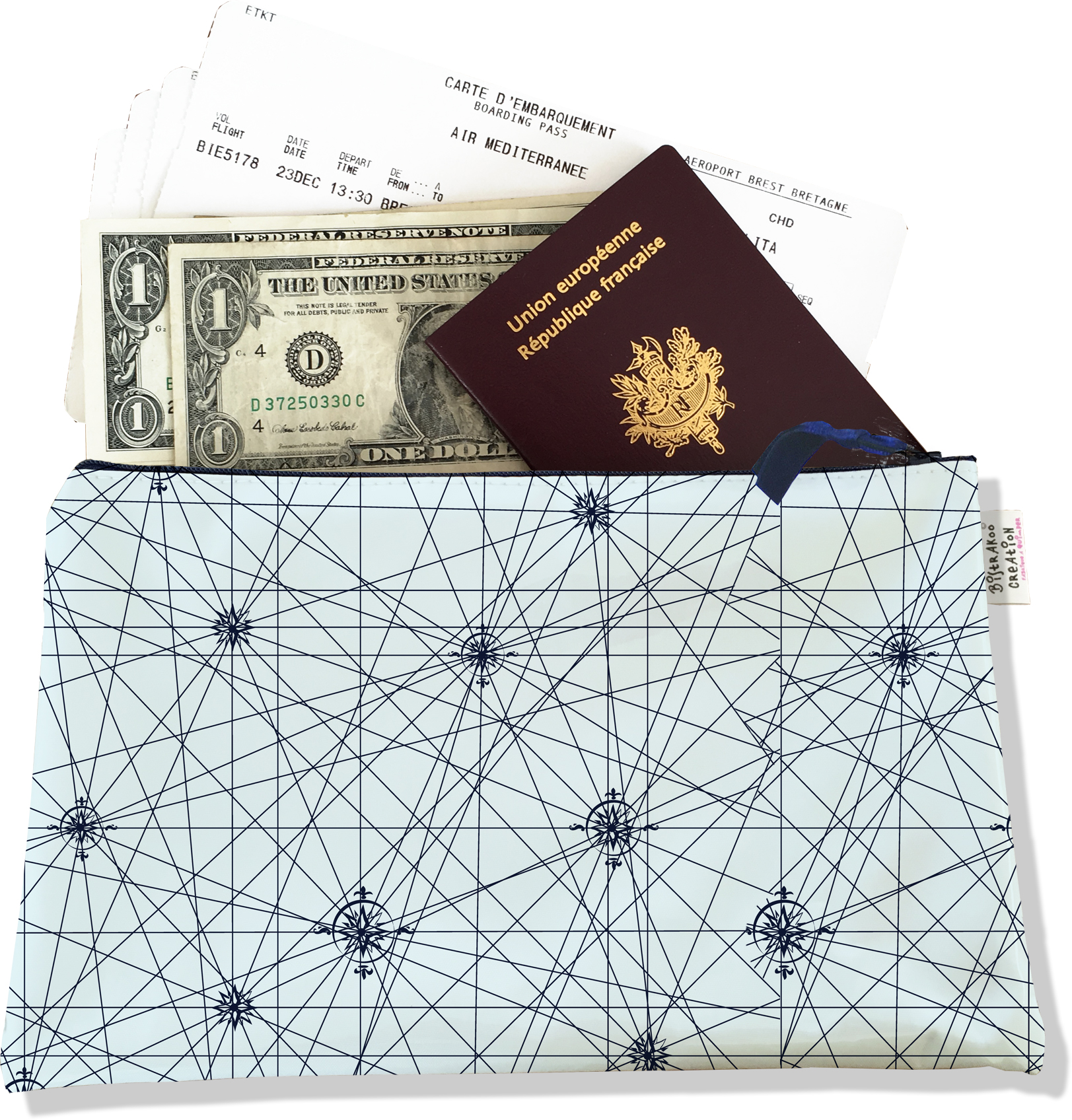 Pochette voyage , porte documents pour homme PV2143