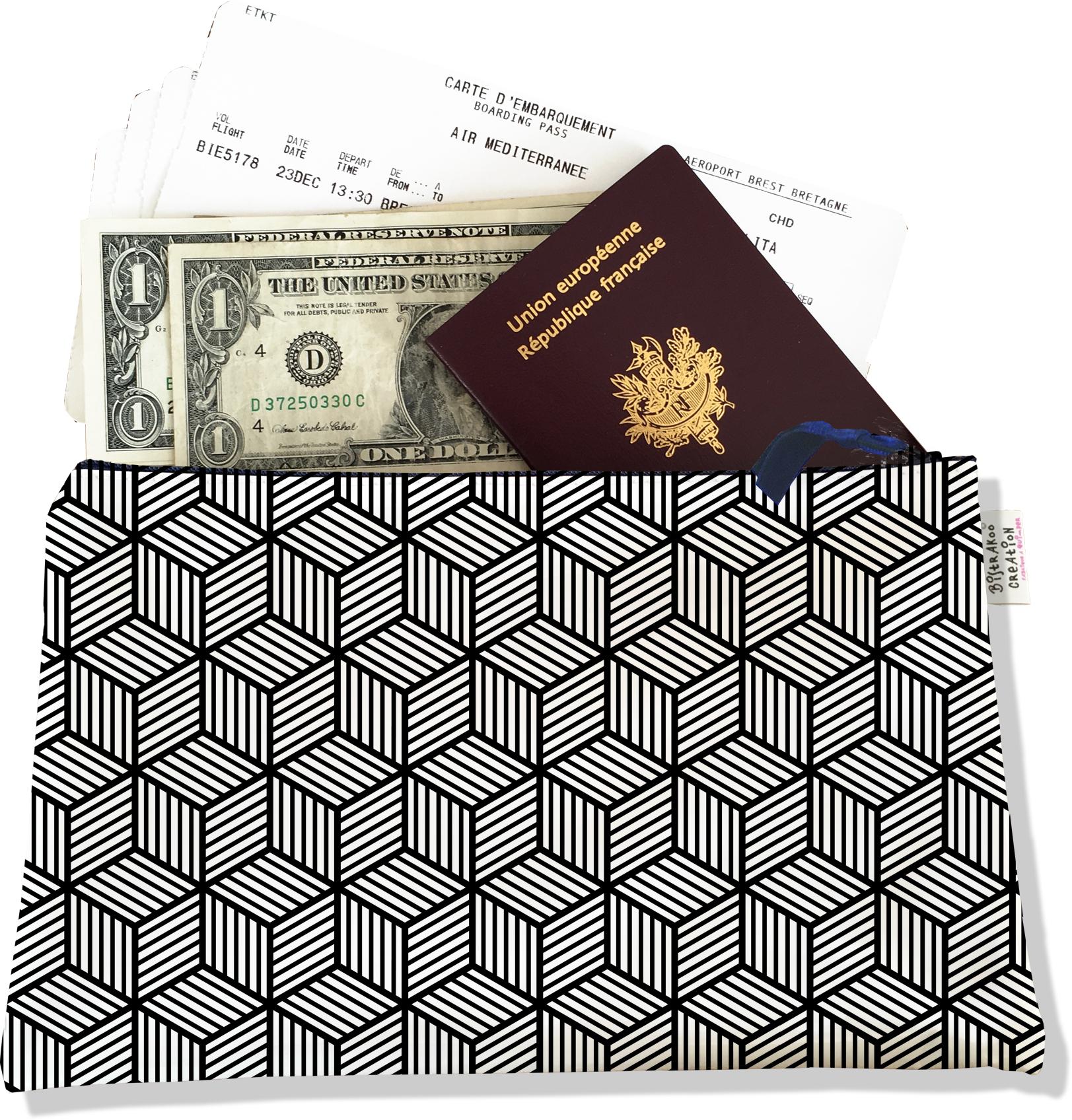 Pochette voyage , porte documents PV2164