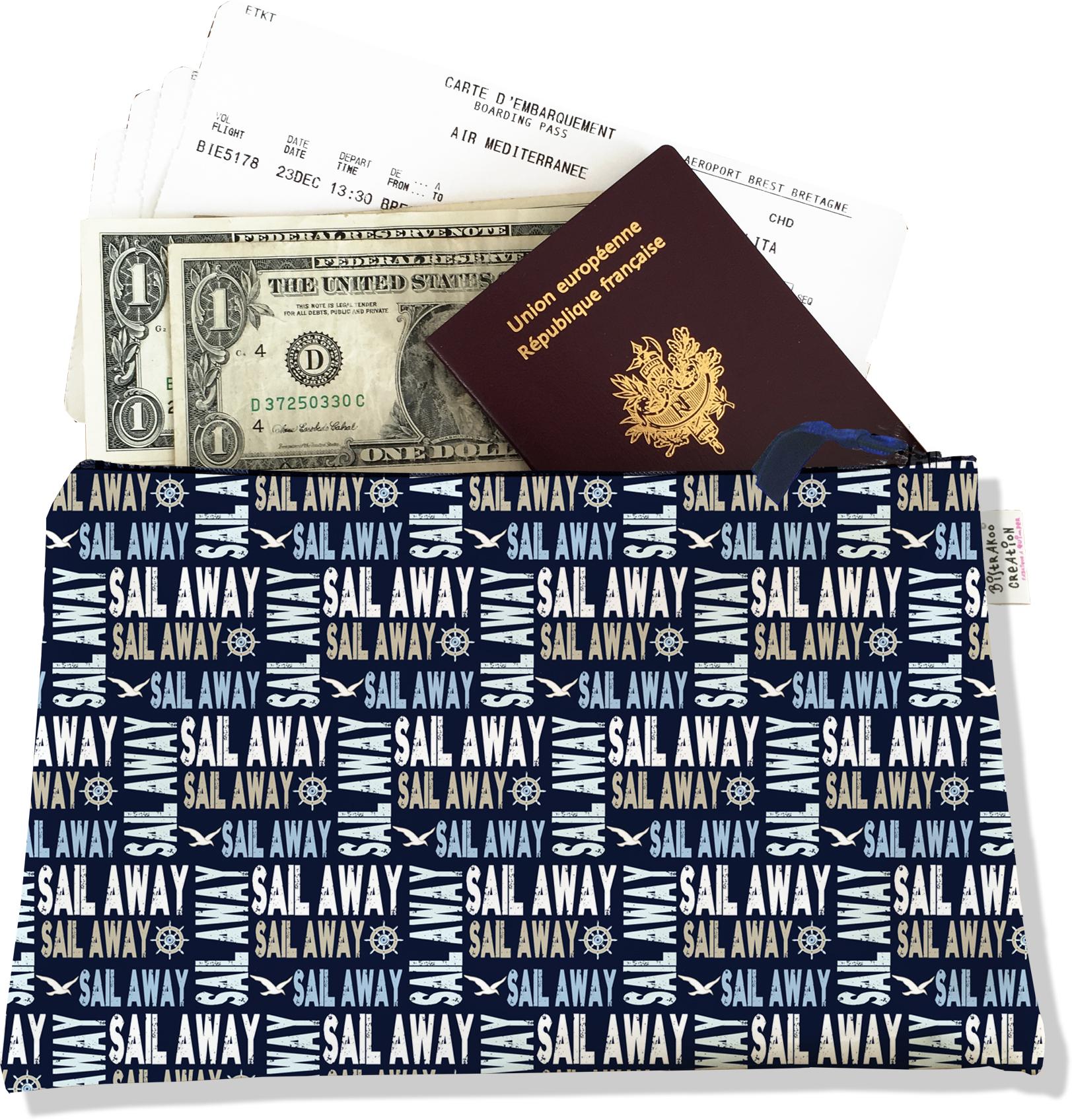 Pochette voyage , porte documents PV2142