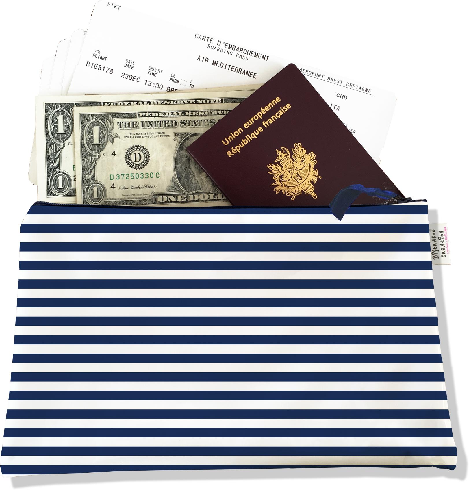 Pochette voyage , porte documents PV2131