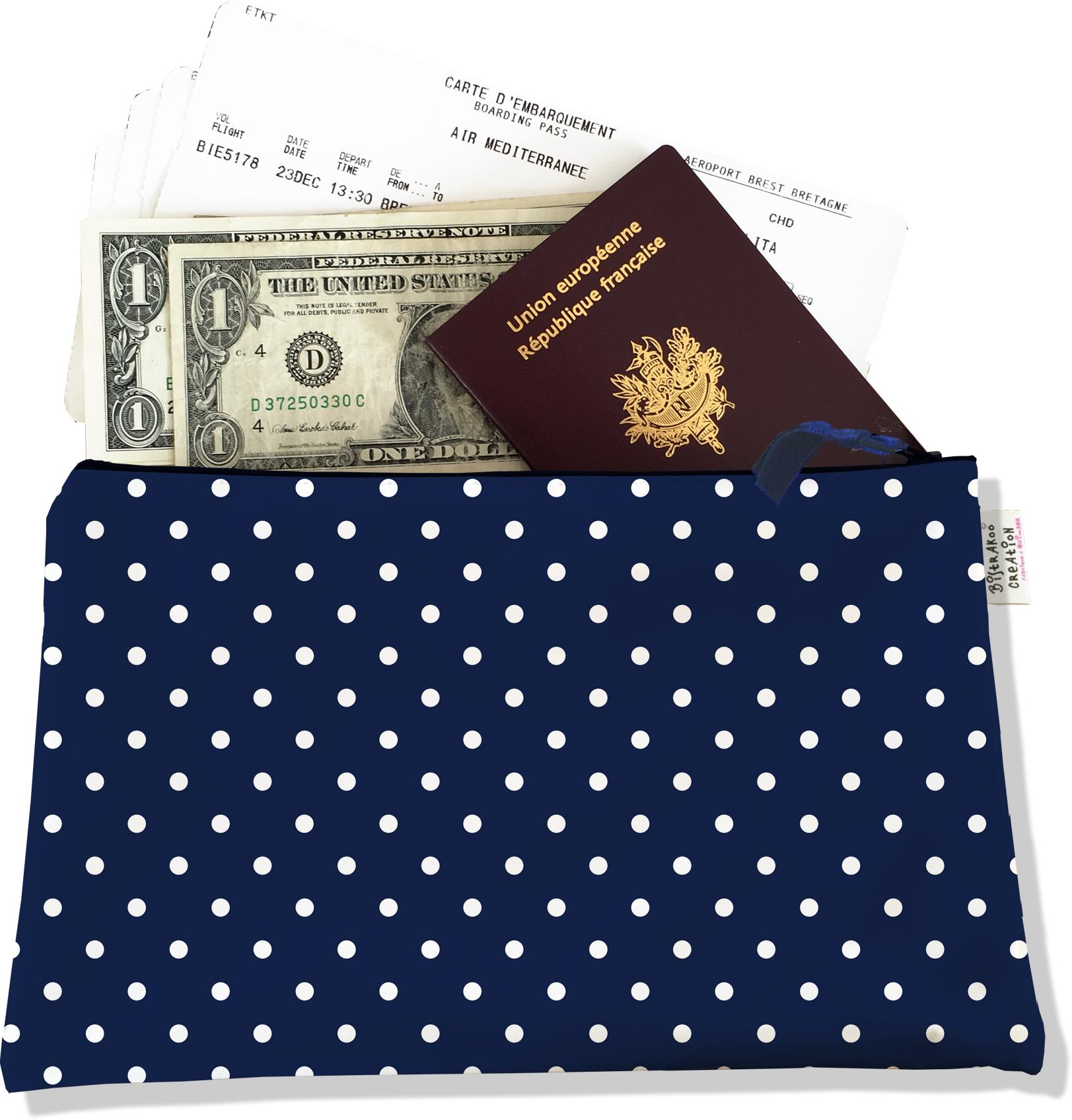 Pochette voyage , porte documents PV2099