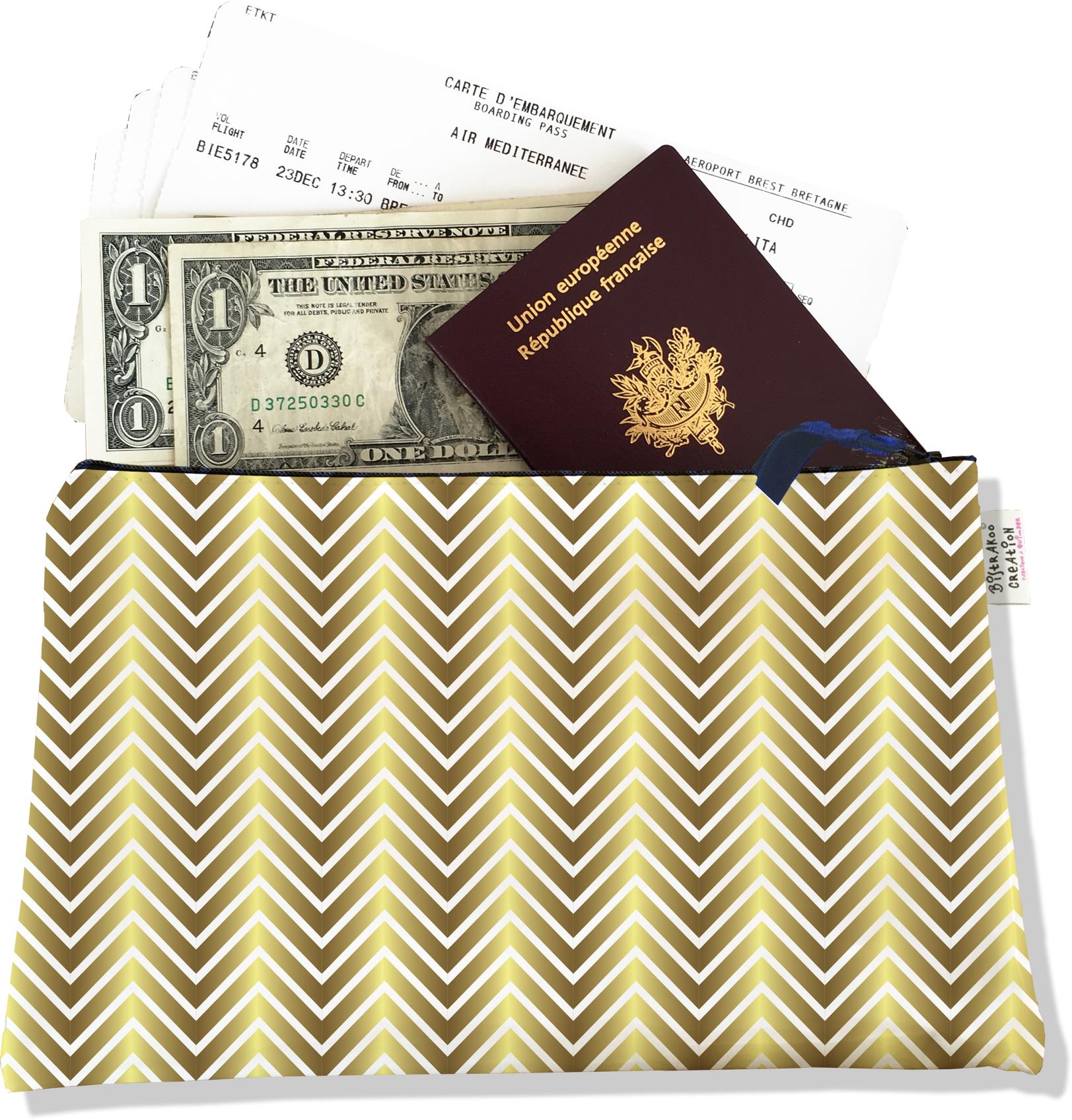Pochette voyage , porte documents PV2095