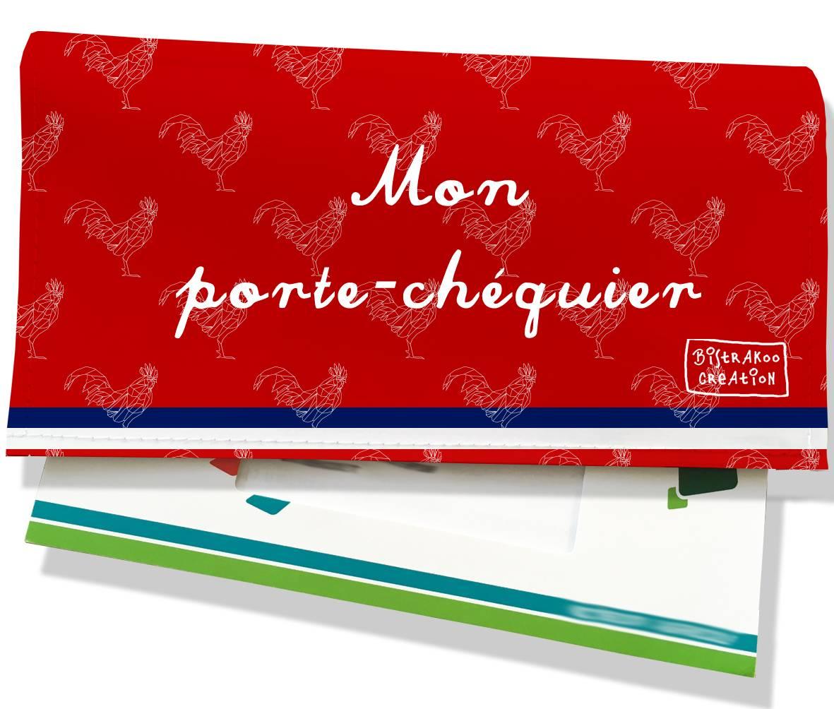 Porte-chéquier motif Rouge Collection Française