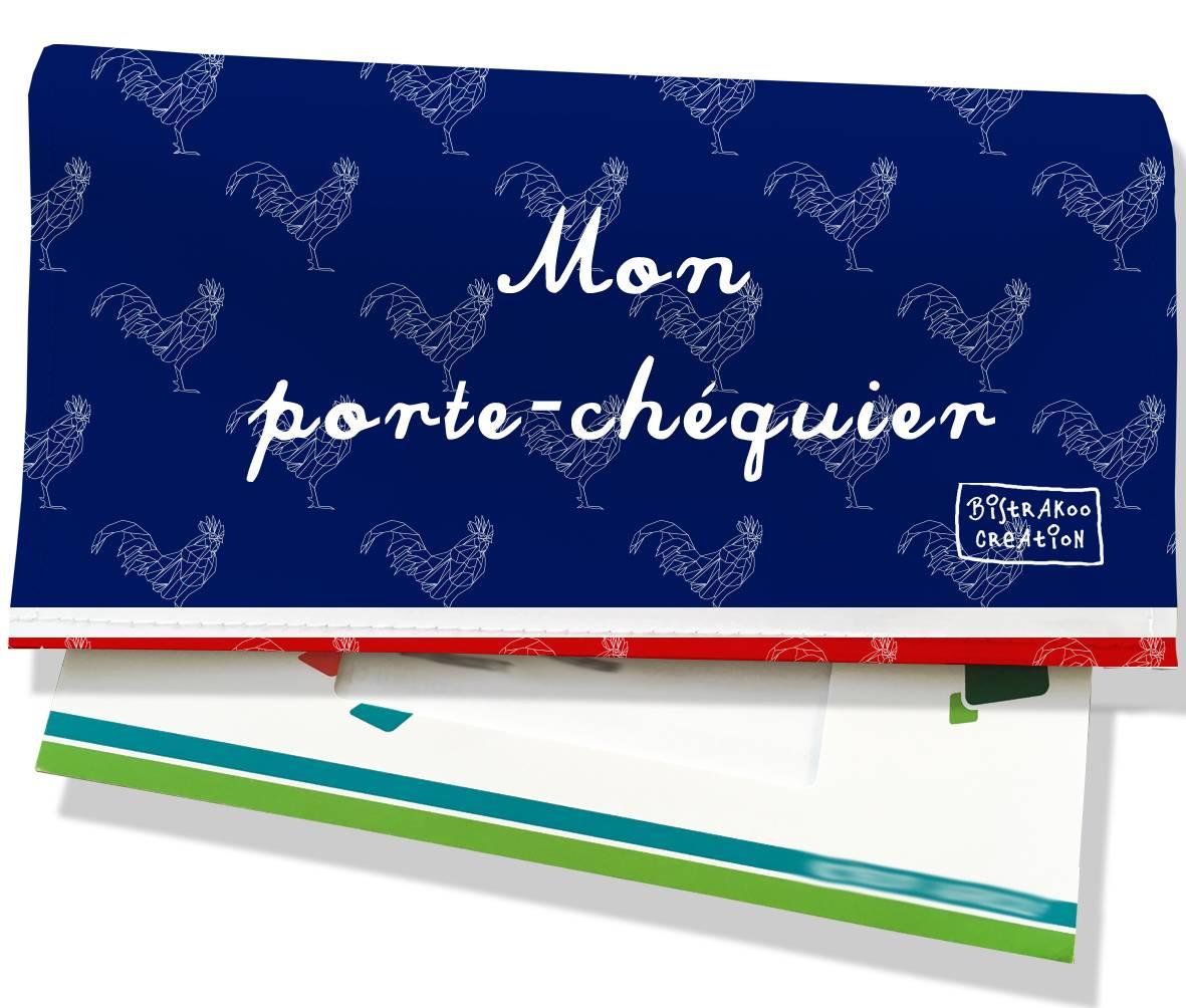 Porte-chéquier motif Bleu marine Collection Française