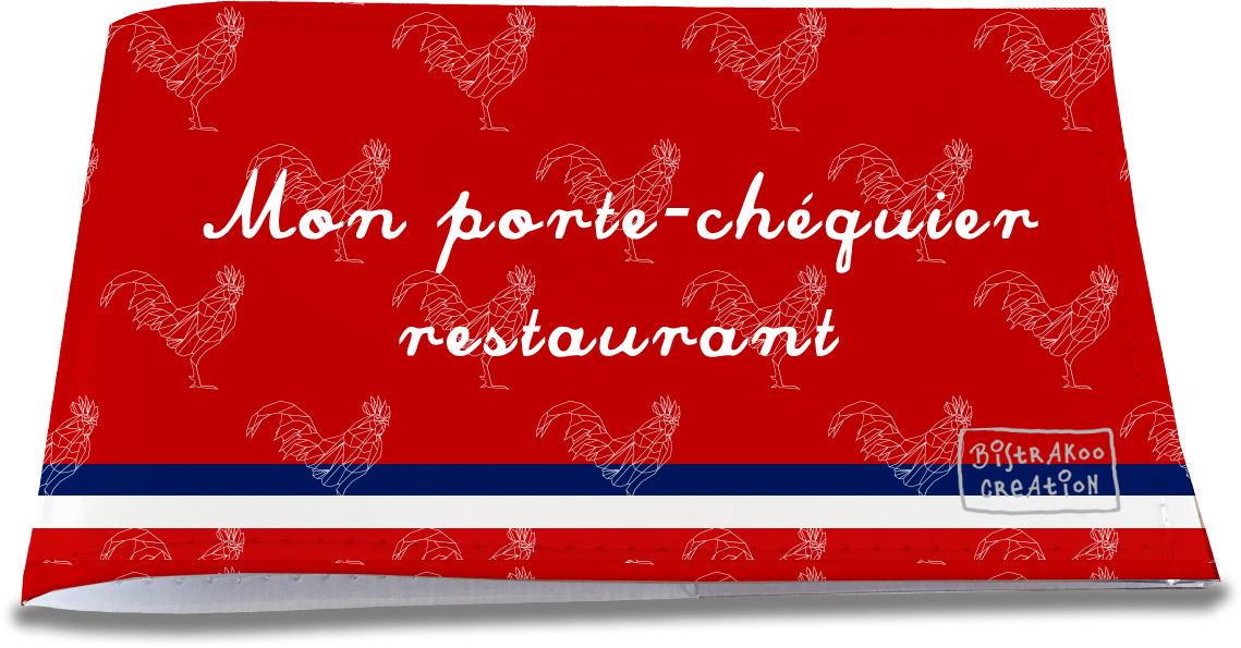 Porte-chéquier restaurant motif Rouge Collection Française
