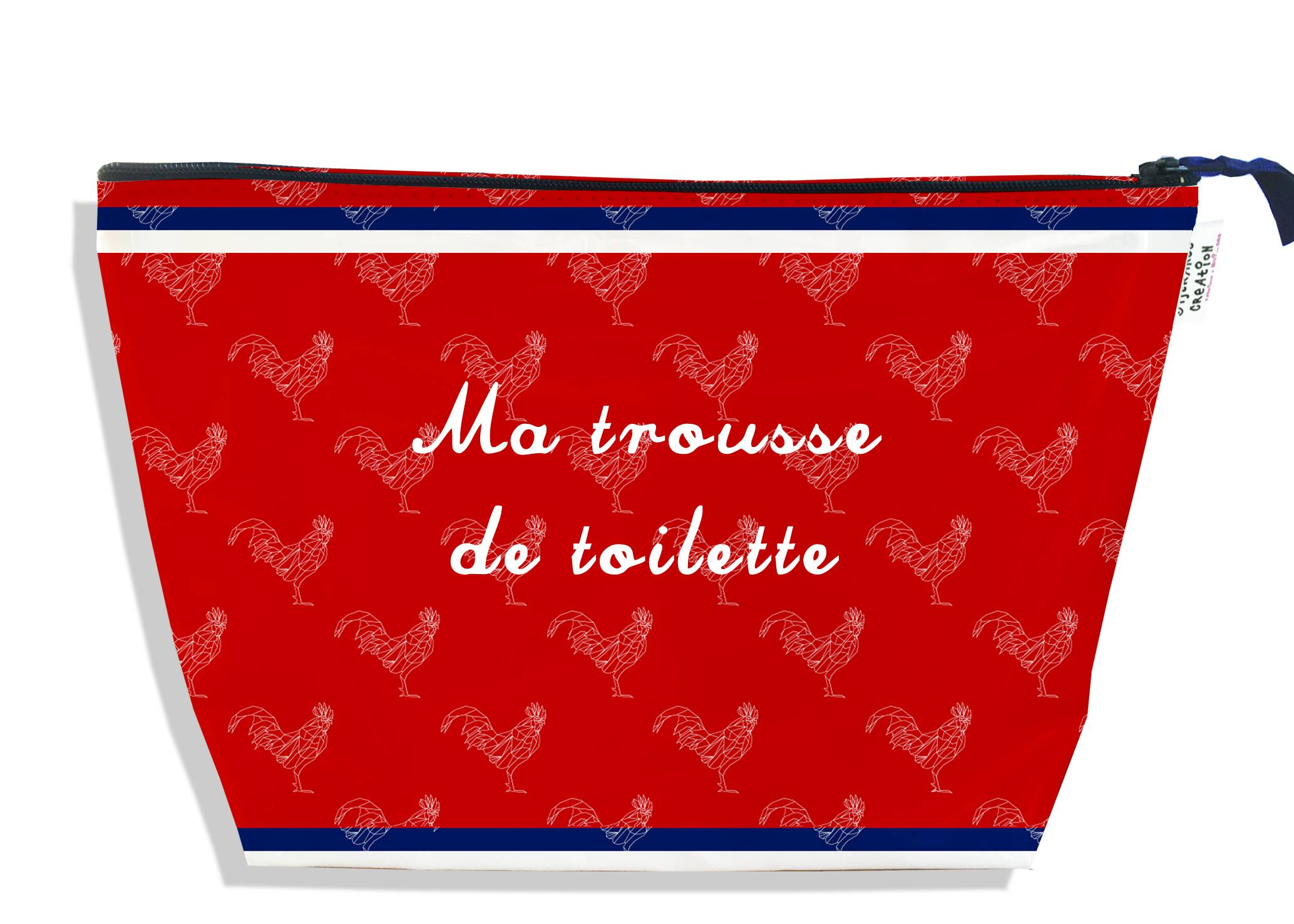 Trousse de toilette motif Rouge Collection Française
