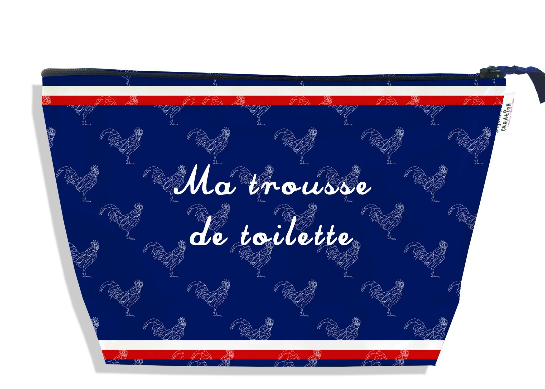 Trousse de toilette motif Bleu marine Collection Française