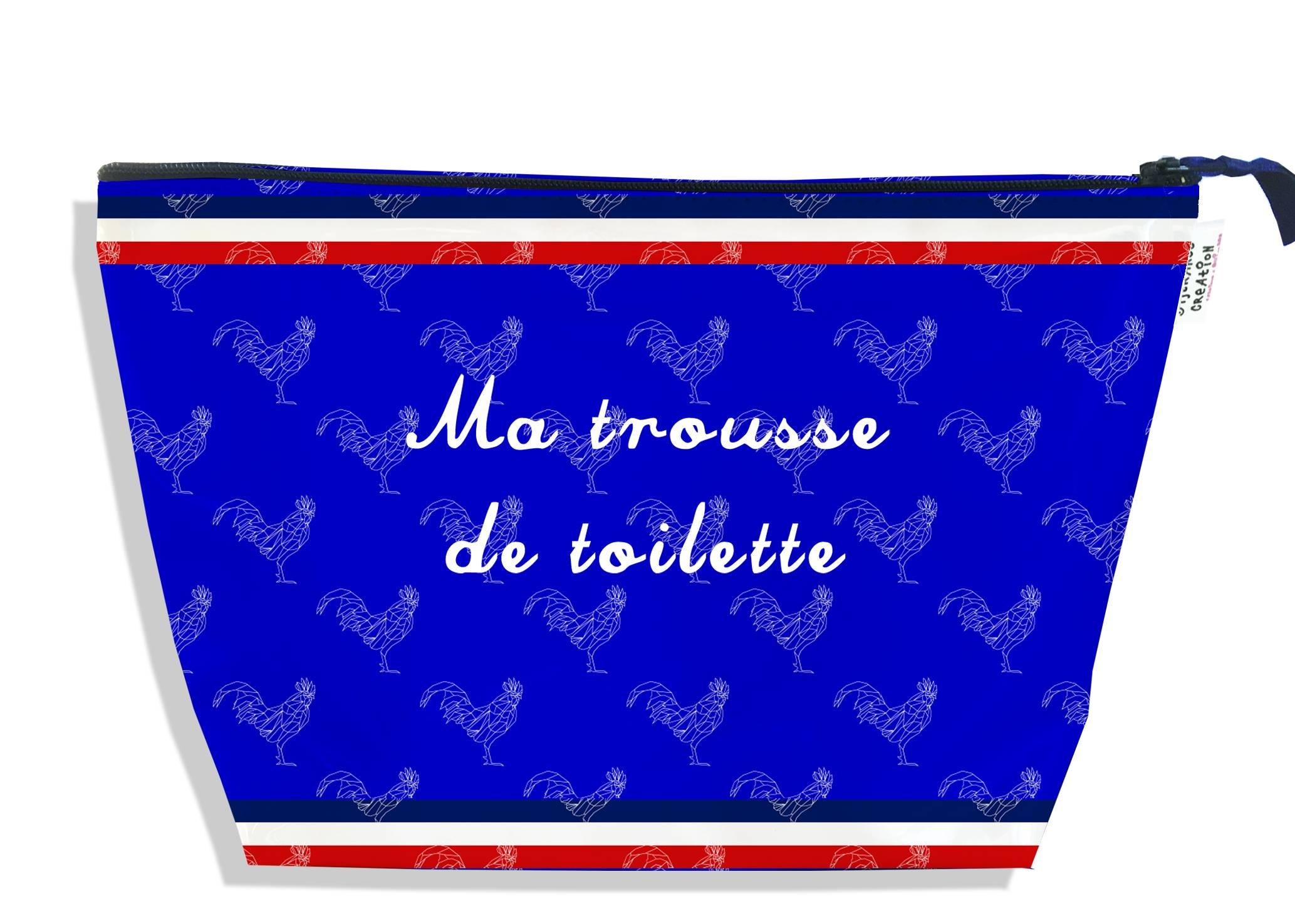 Trousse de toilette motif Bleu Collection Française