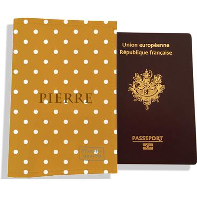 Protège passeport personnalisable pour homme Pois