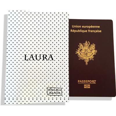 Protège passeport personnalisable pour femme Pois