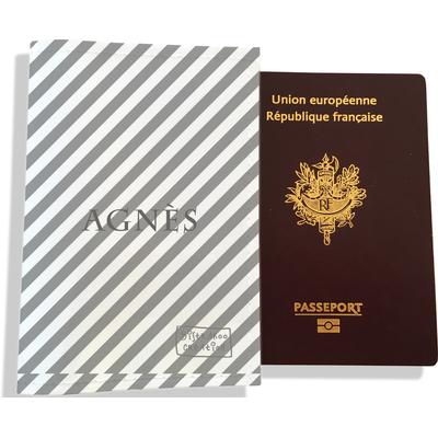 Protège passeport personnalisable pour femme Lignes