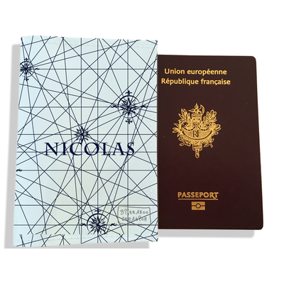 Protège passeport personnalisable pour homme Carte